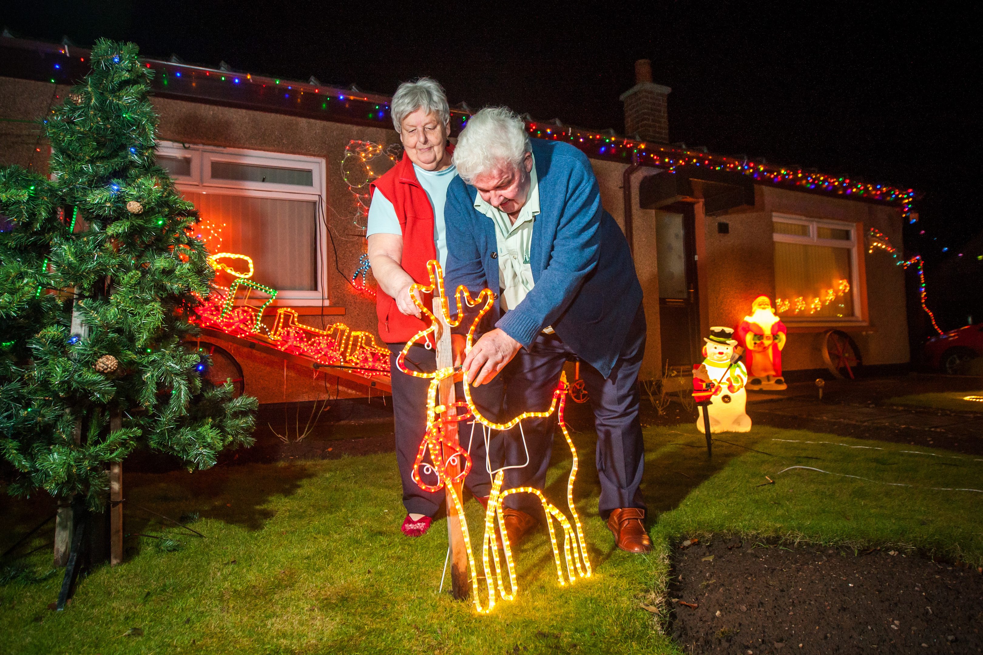 Jim and Beth Smart have been putting on a Christmas lights display every year for 42 years.