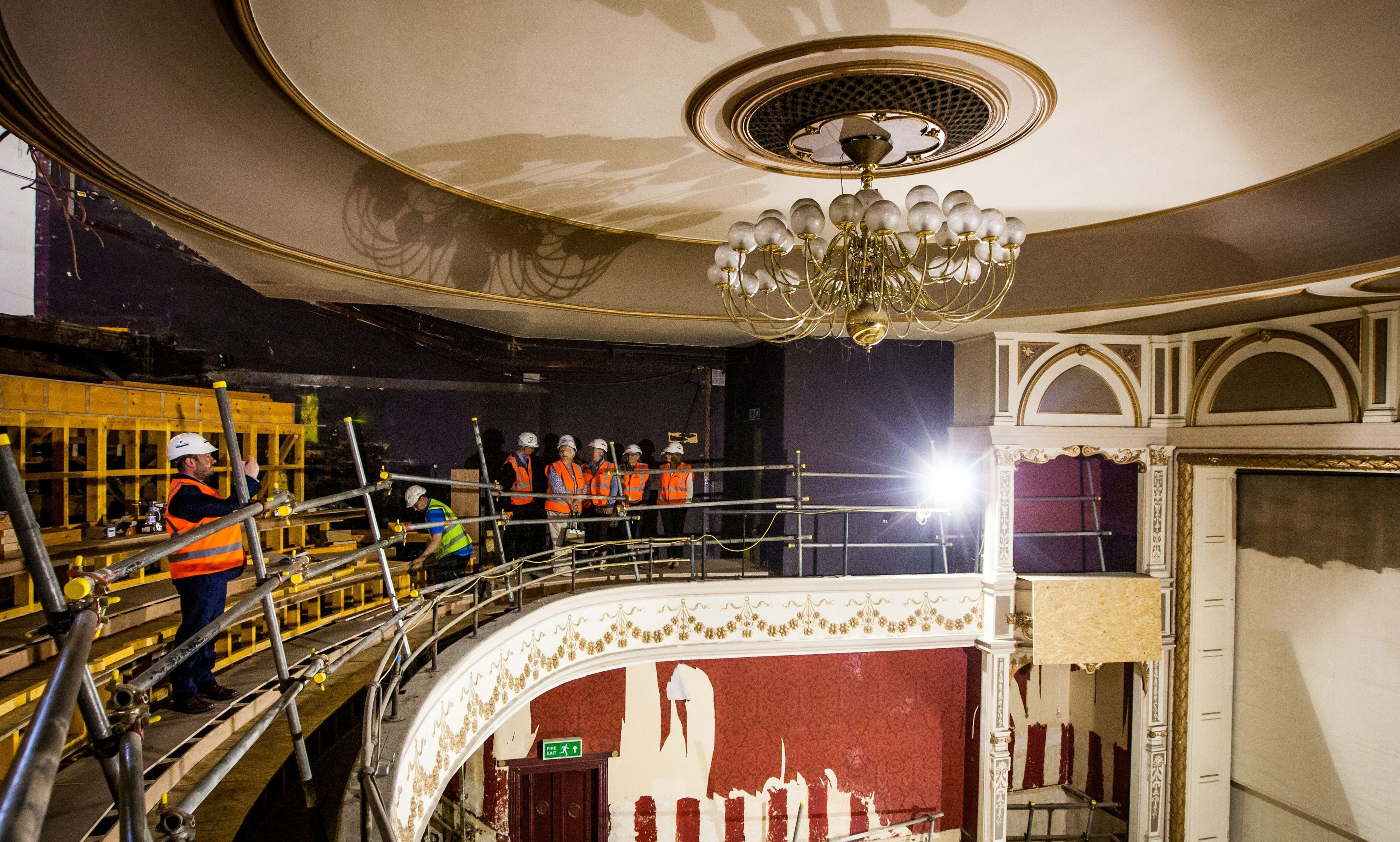 The ongoing work at Perth Theatre.