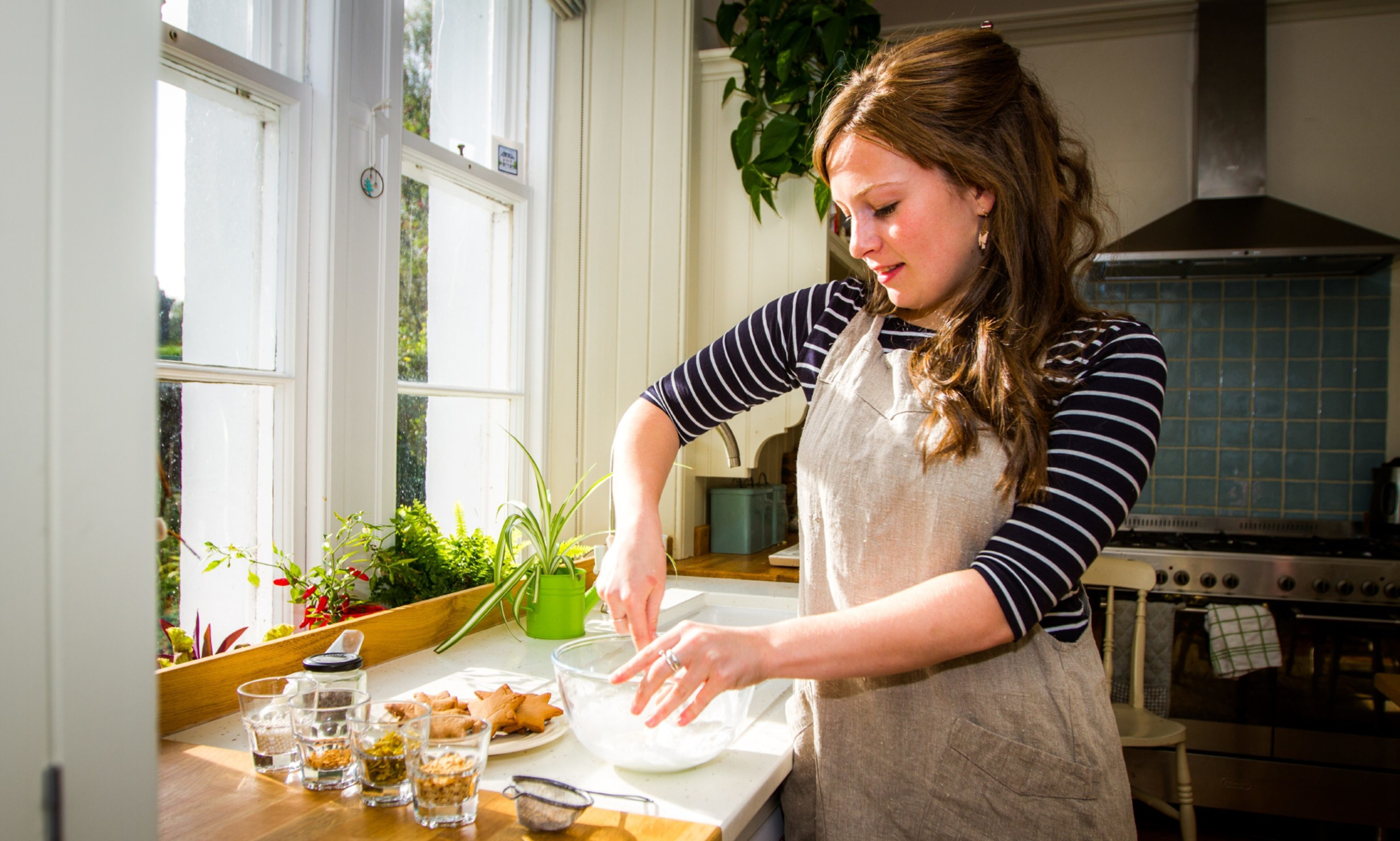 Flora Shedden prepares Christmas treats at home in Dunkeld.