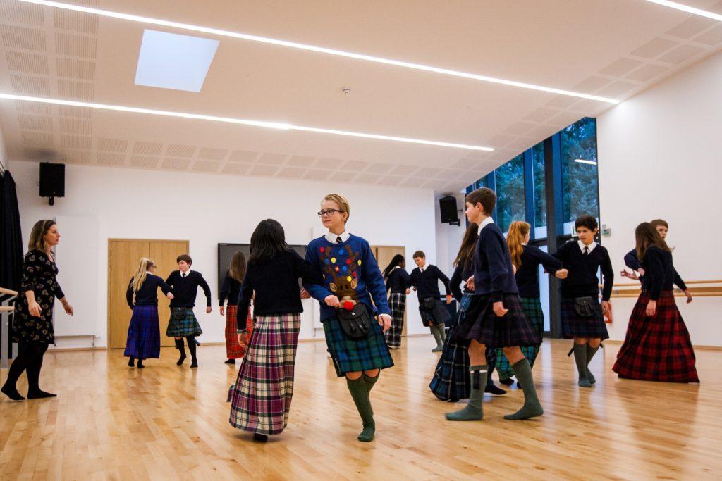 Pupils at Strathallan School enjoying social dancing.