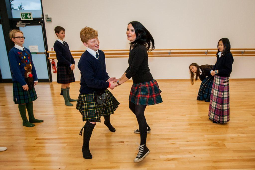 Gayle dancing with Tom Rampton.