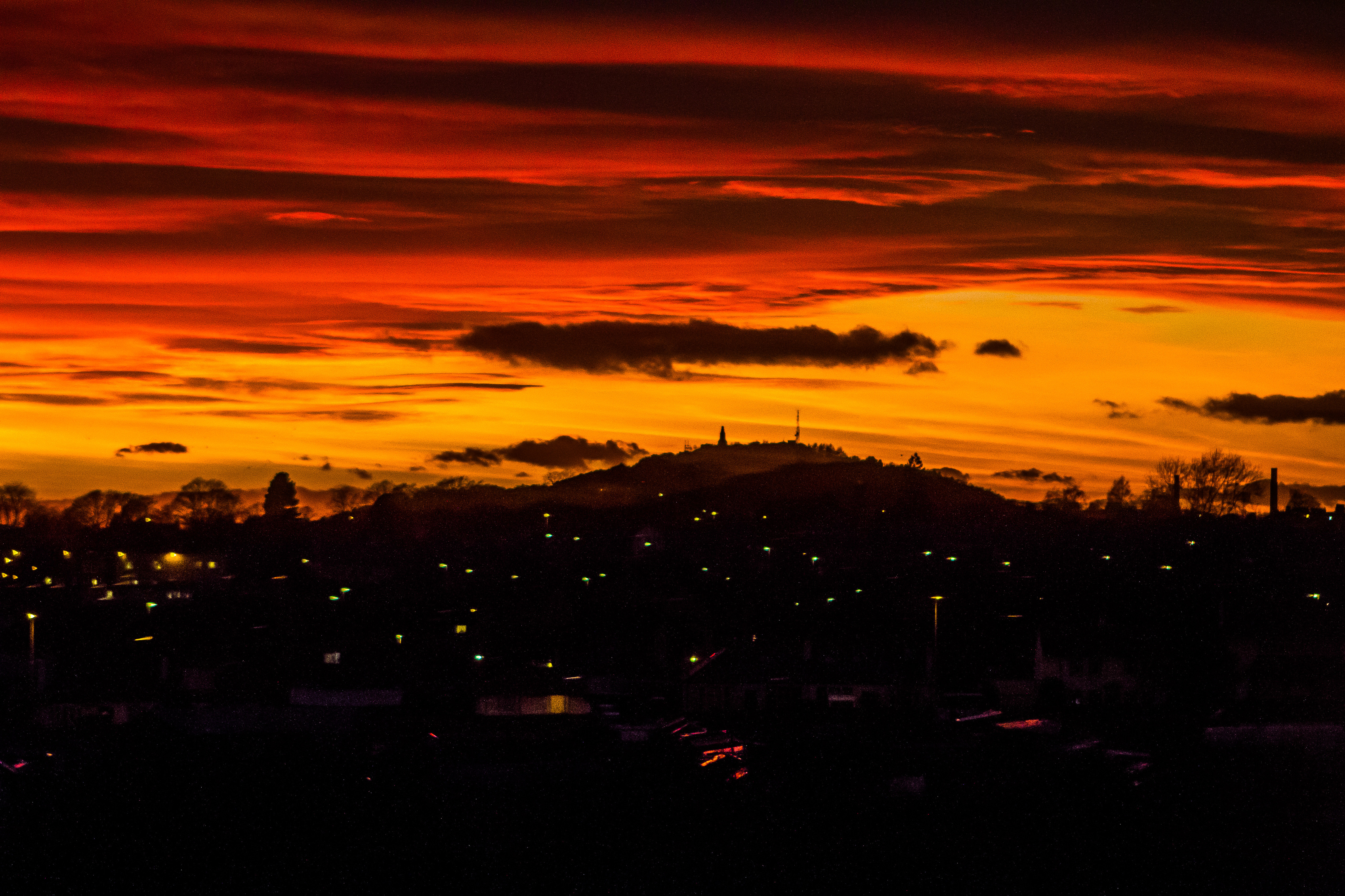 A sunset over Dundee this week.