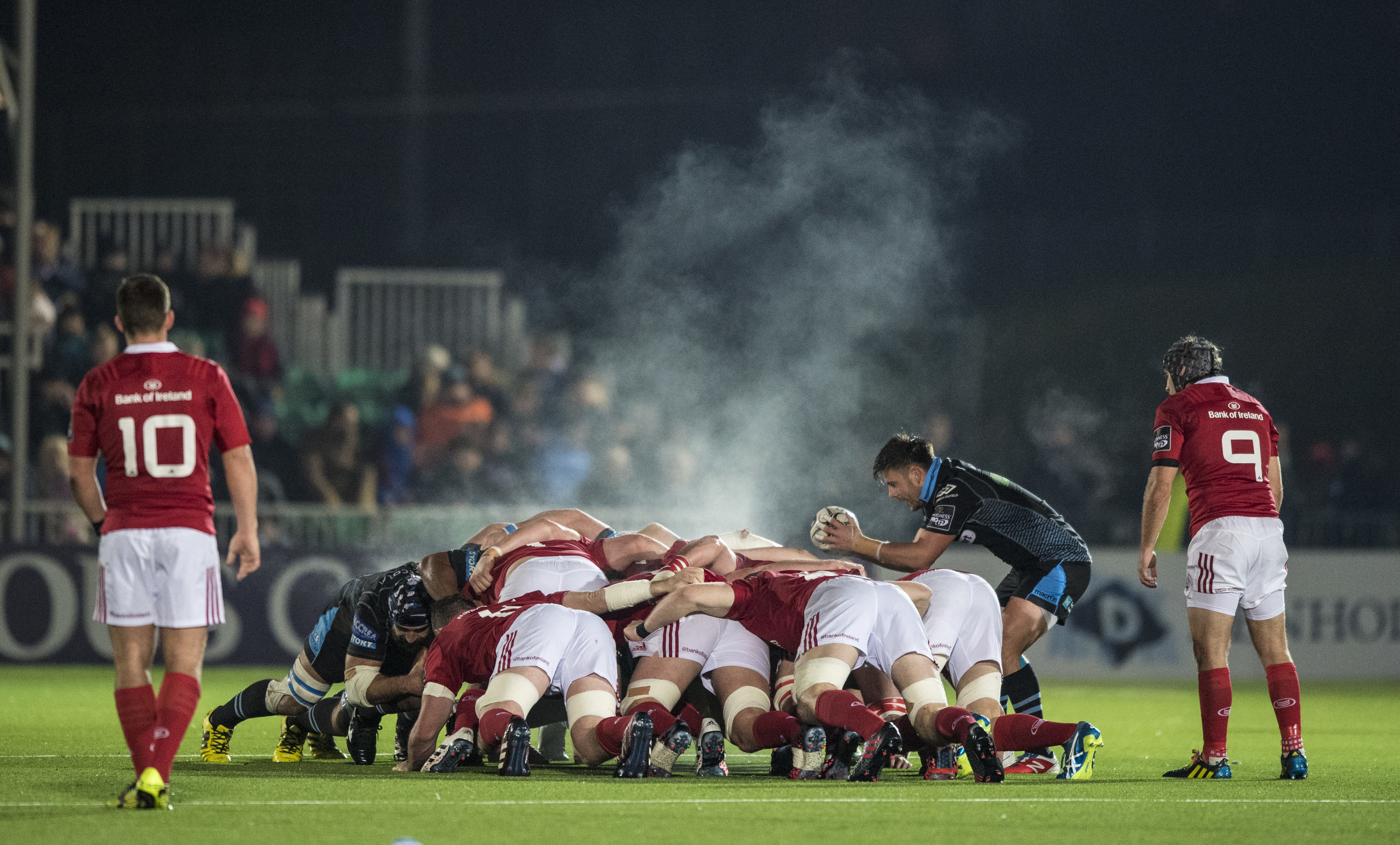 The Glasgow and Munster packs lock horns at Scotstoun.