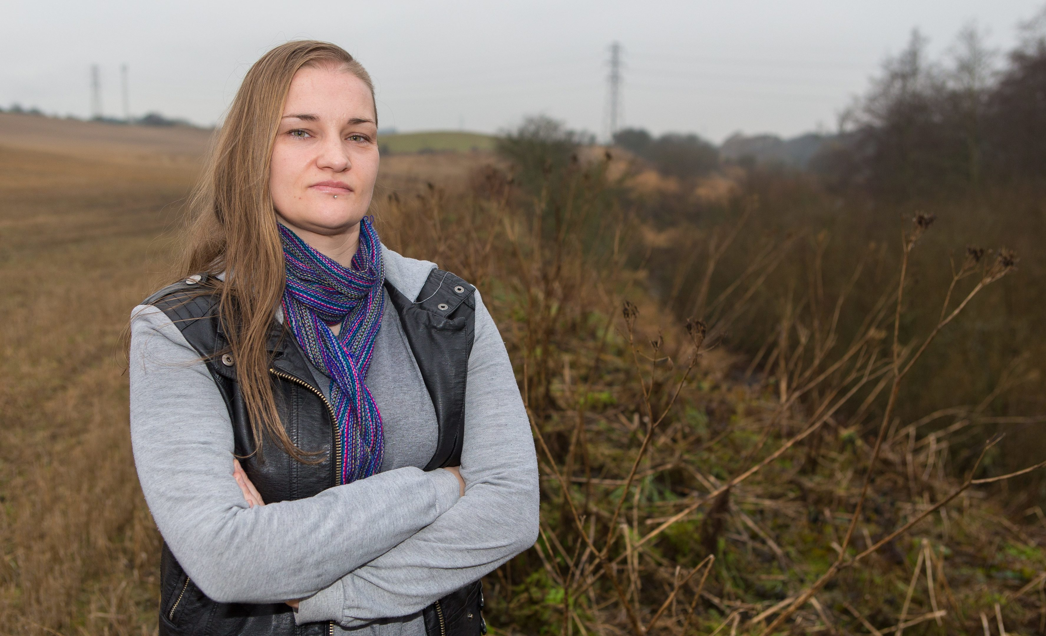 Jacqueline Scott, from Cardenden, discovered the mutilated bodies of two foxes at the side of the field where she walks her dogs.