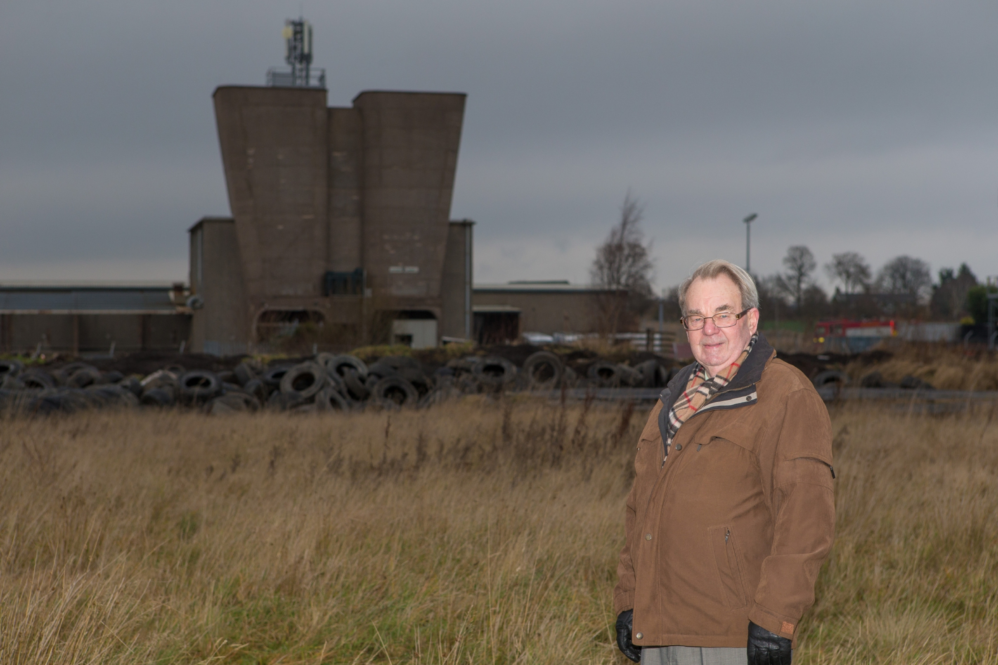 Jim Parker at the former site of the old Rothes Colliery.