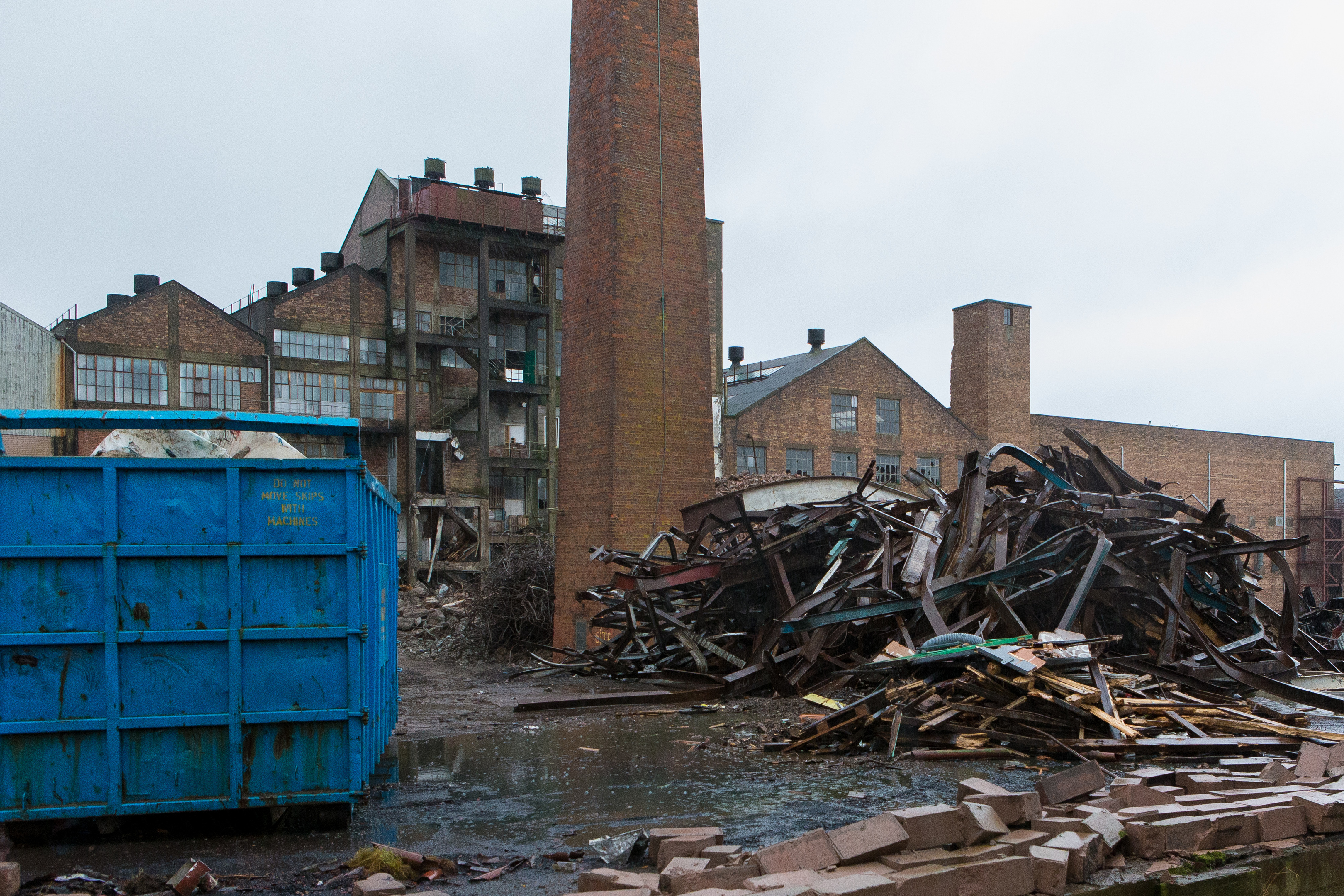The demolition process is under way.