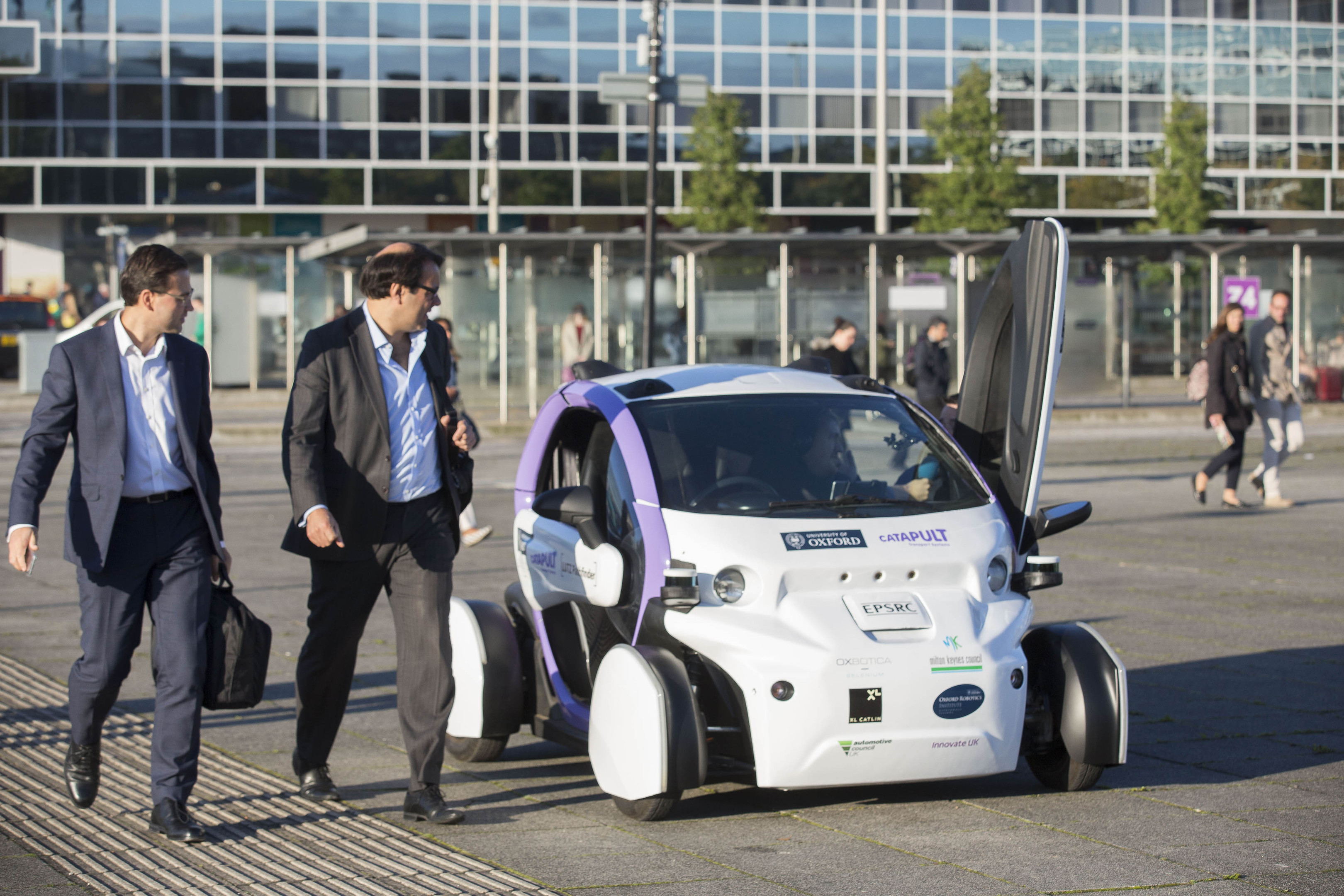 A prototype driverless car.