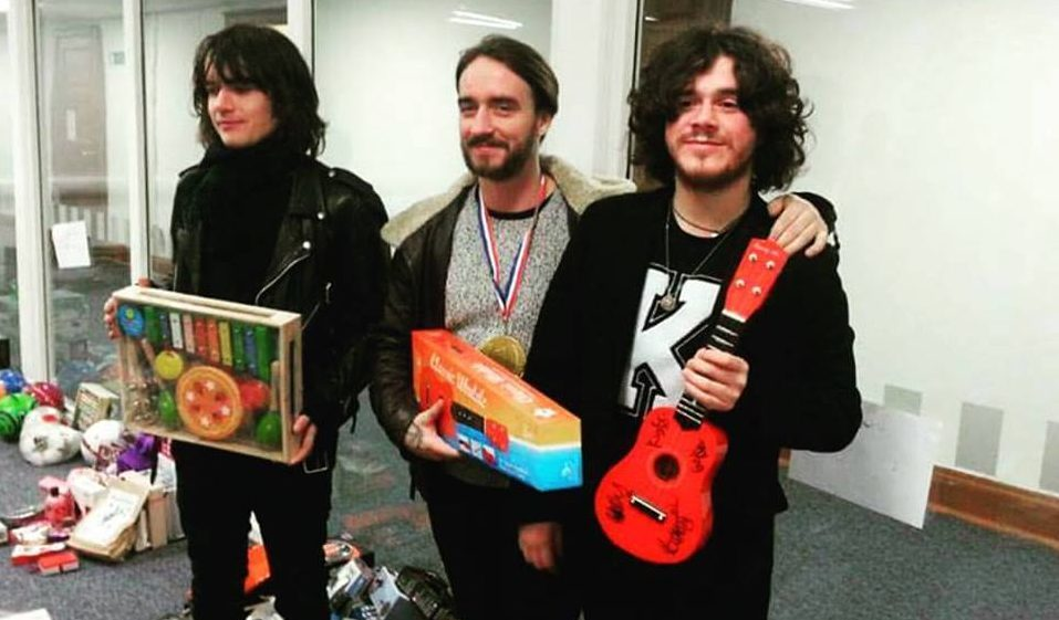 The View supported the Christmas Toy Appeal and signed a toy ukulele for auction.