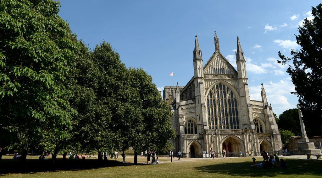 Winchester Cathedral, as Winchester has been crowned as the UK's best place to live in 2016 by a quality of life study.