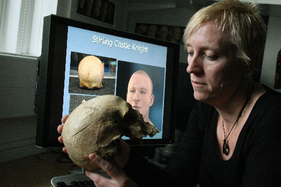 Professor Caroline Wilkinson during her time at Dundee University's Centre for Anatomy and Human Identification (CAHID).