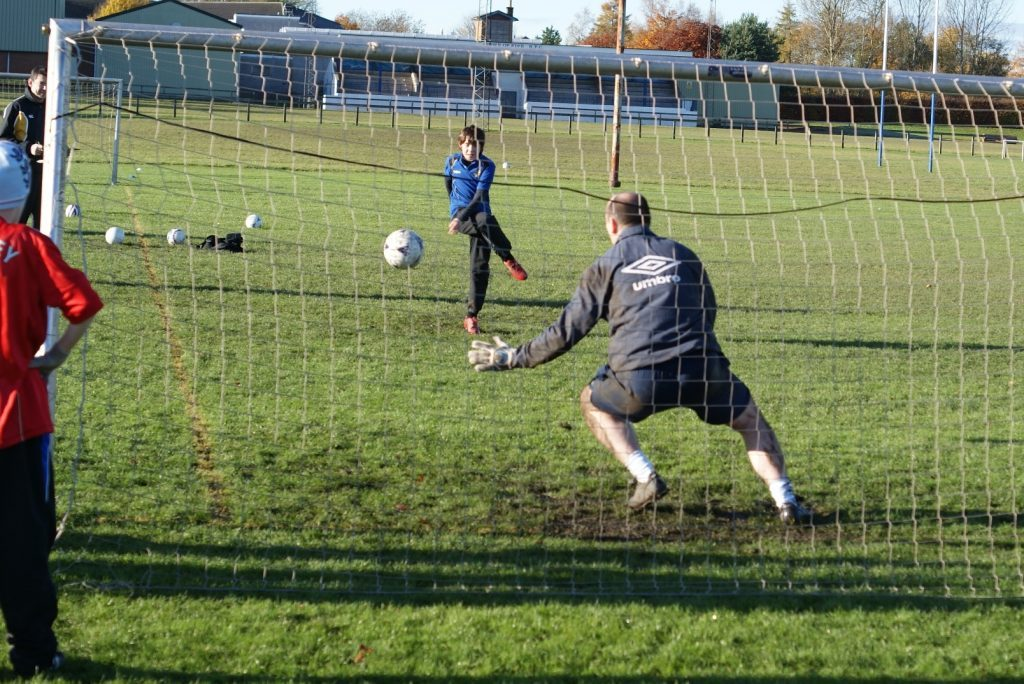 Cupar Soccer Sevens penalty shoot out