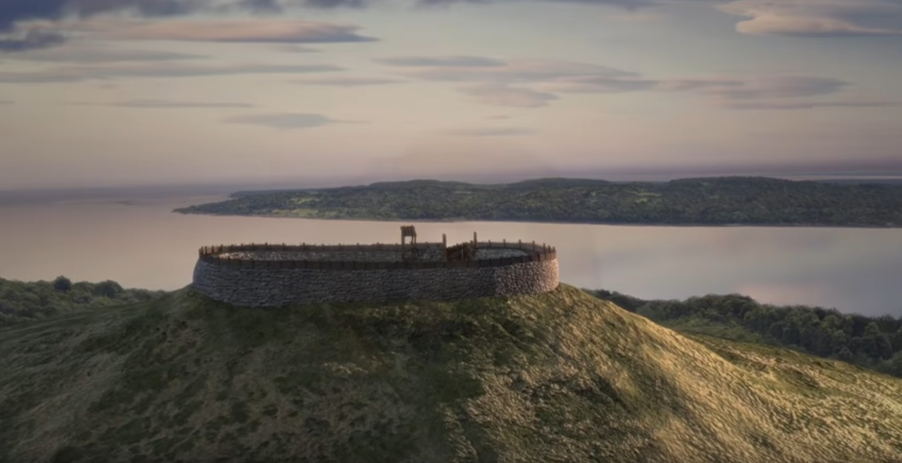 The 3D reconstruction of the hillfort