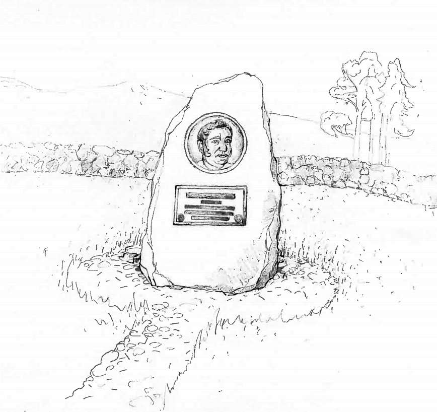 A sketch of what the Glamis memorial may look like.