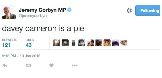 Jeremy Corbyn's Twitter has hijacked to deliver this bizarre message