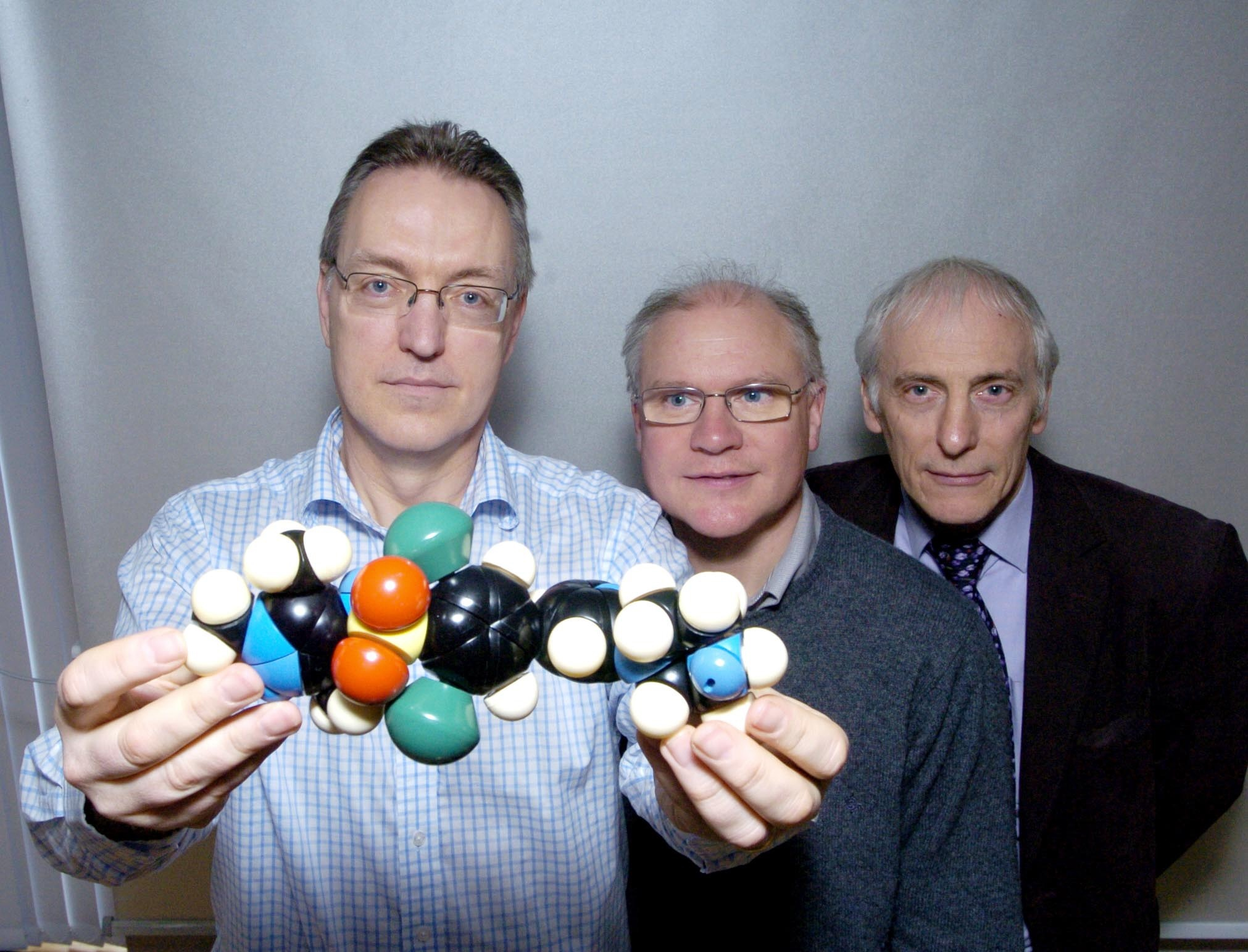 Professors Paul Wyatt, Mike Ferguson and Alan Fairlamb.