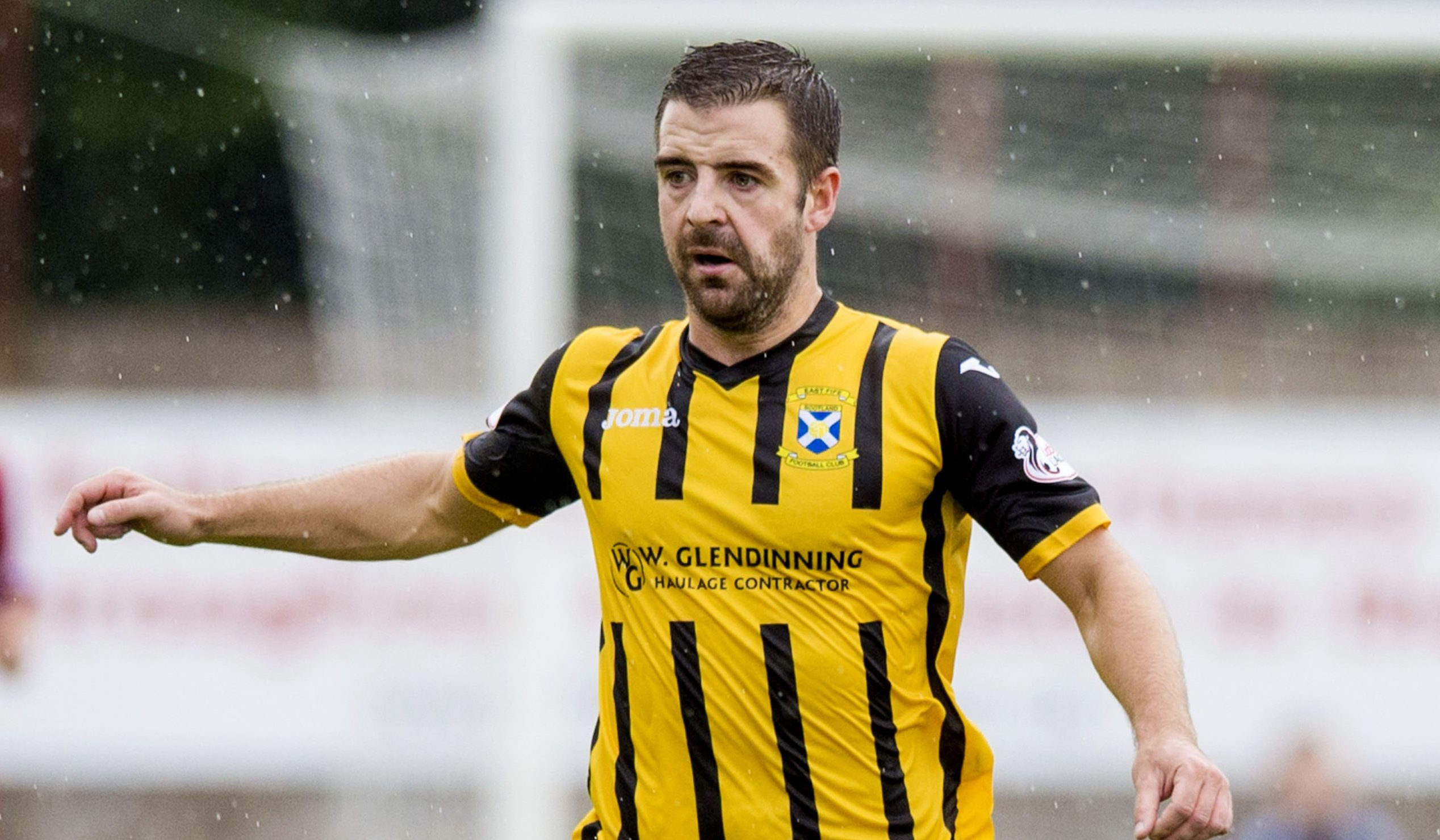 Scott Robinson in action for East Fife.