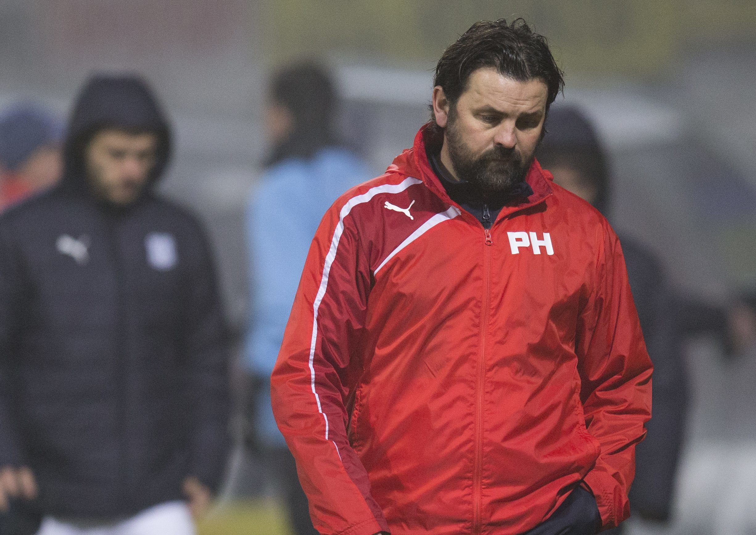 Paul Hartley at full-time.