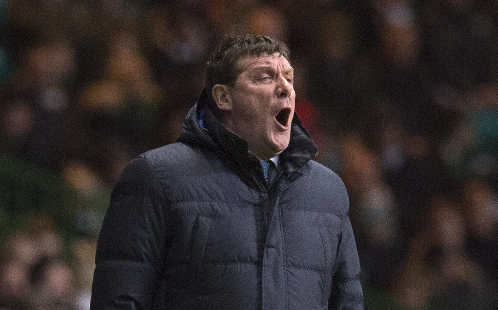 Tommy Wright at Celtic Park.
