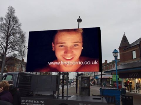 A mock-up of how the big screens will look in the search for Corrie.
