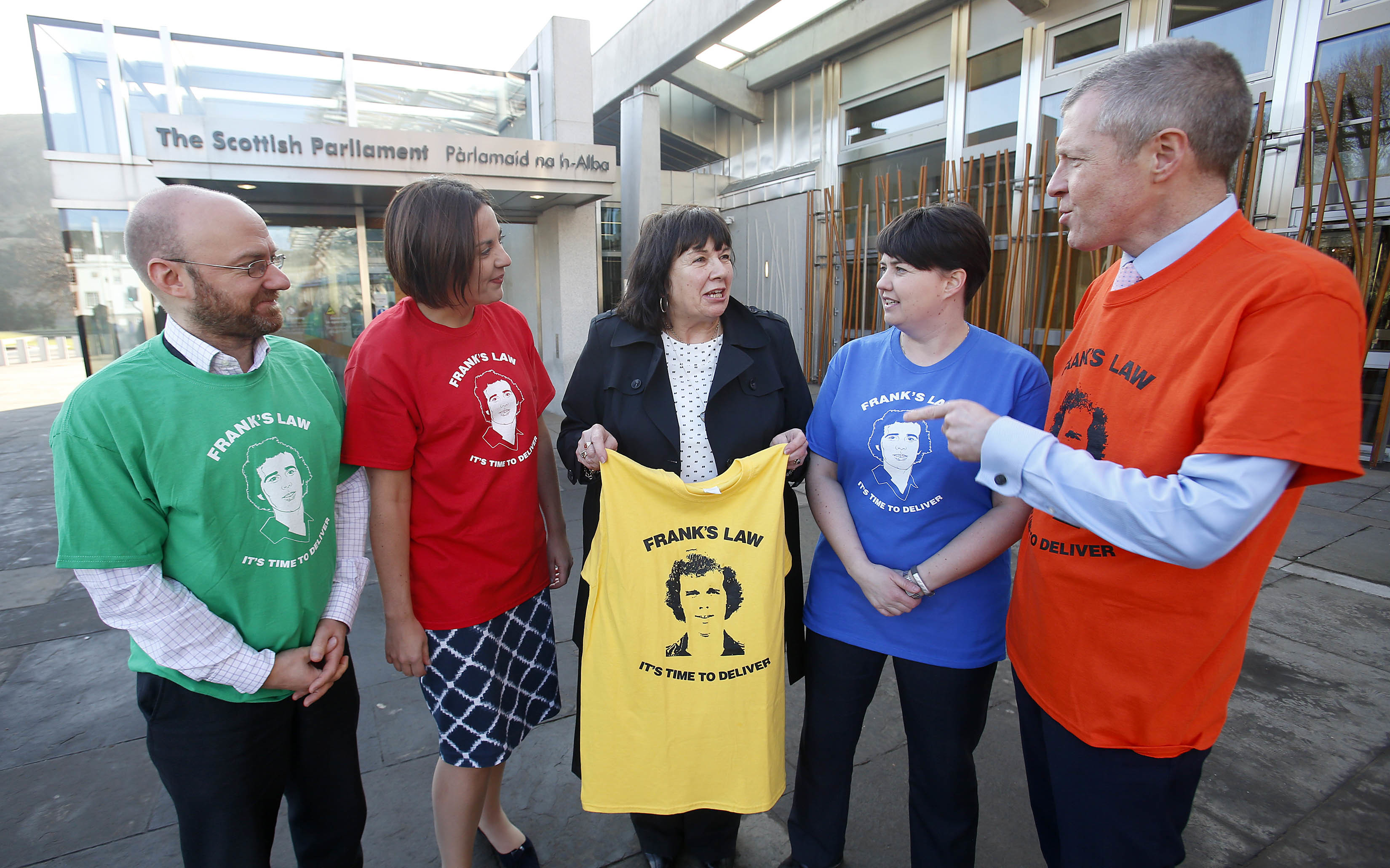 Amanda Kopel with leaders of Holyrood's opposition parties.