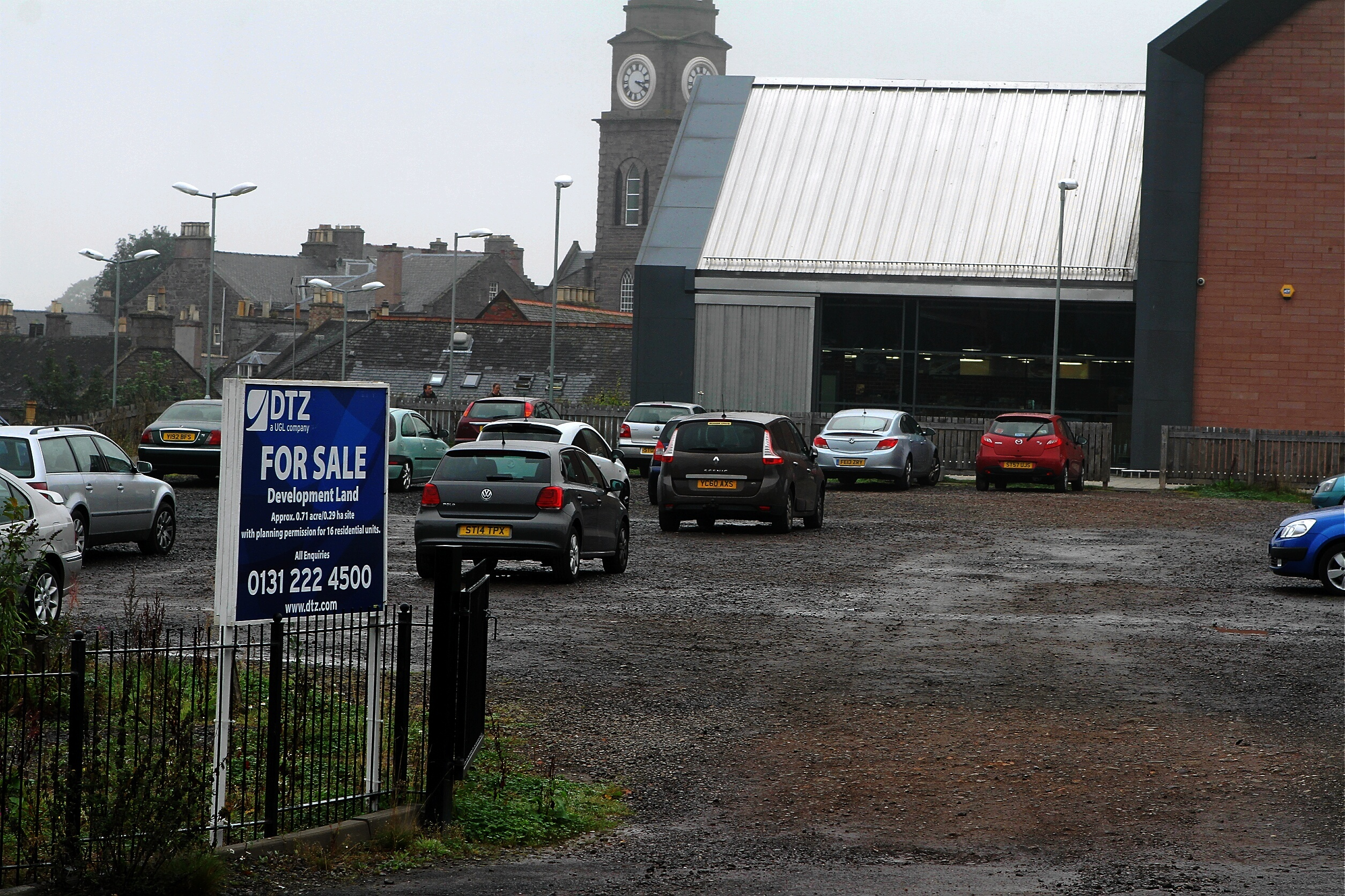 Plans have been lodged for affordable homes on the site.