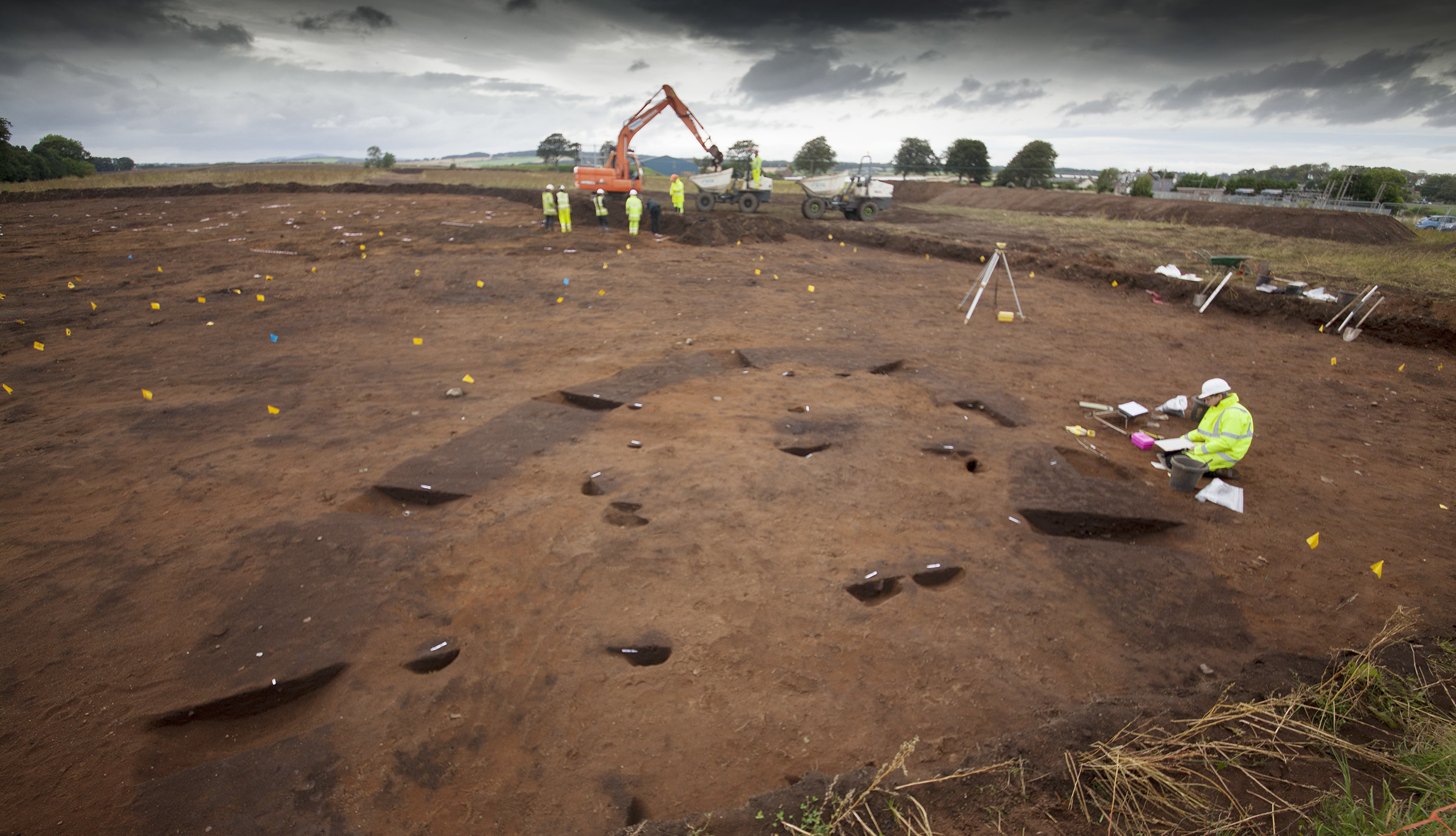 The scene of the previous dig which unearthed significant finds