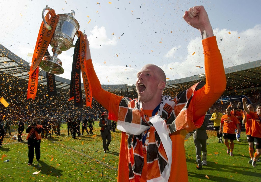 Garry Kenneth won the Scottish Cup with Dundee United in 2010.