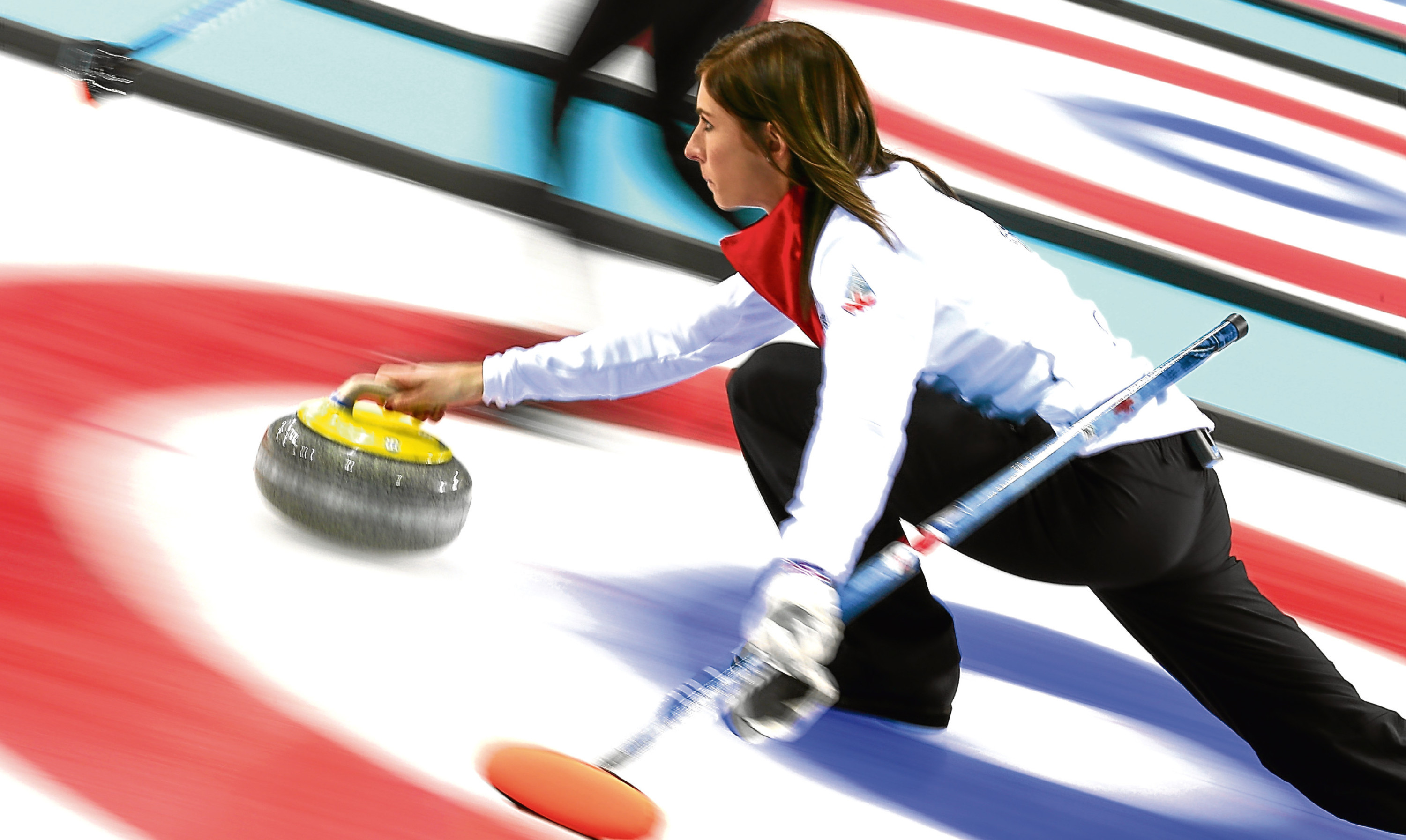 Eve Muirhead in action at the last Winter Olympics.