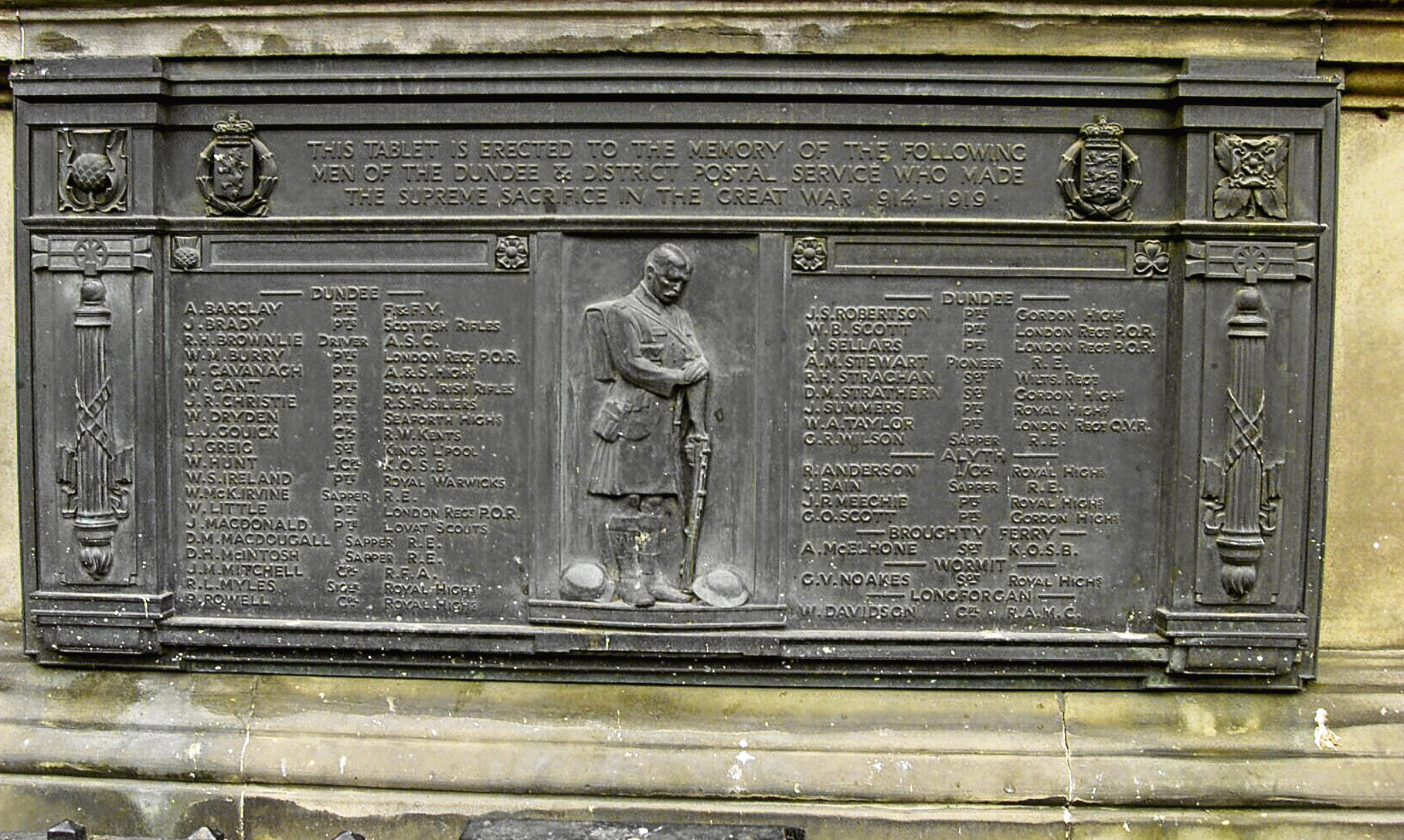The Post Office war memorial.