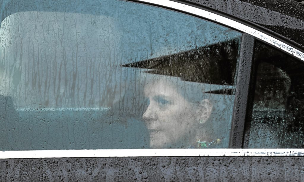 Nicola Sturgeon leaving the meeting in Wales at the weekend to discuss the way forward over Brexit.