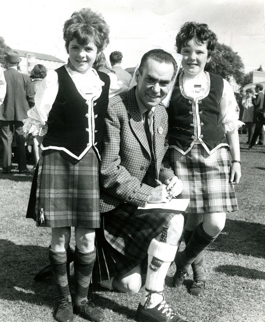 Will Starr at Strathmartine Hospital Fete in September 1971 when he was appearing in the Breath of Scotland show at Dundees Whitehall Theatre.