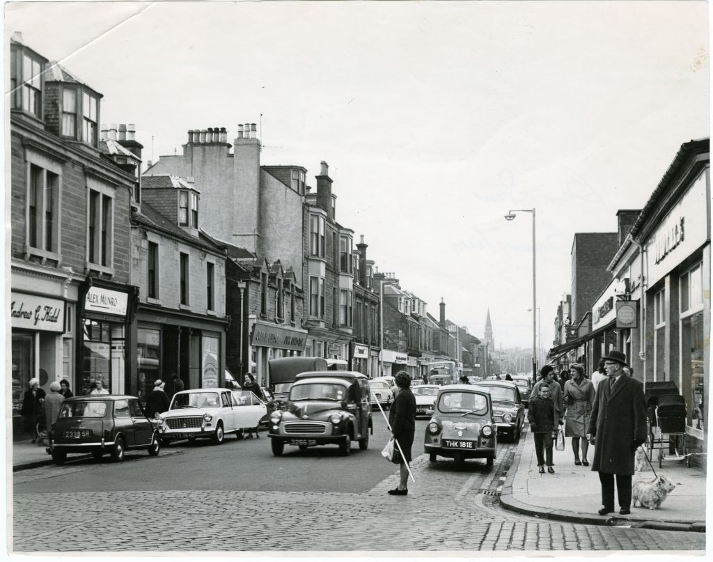 Brook Street, Broughty Ferry in 1967. Do we have an inaccurately nostalgic view of town centres?