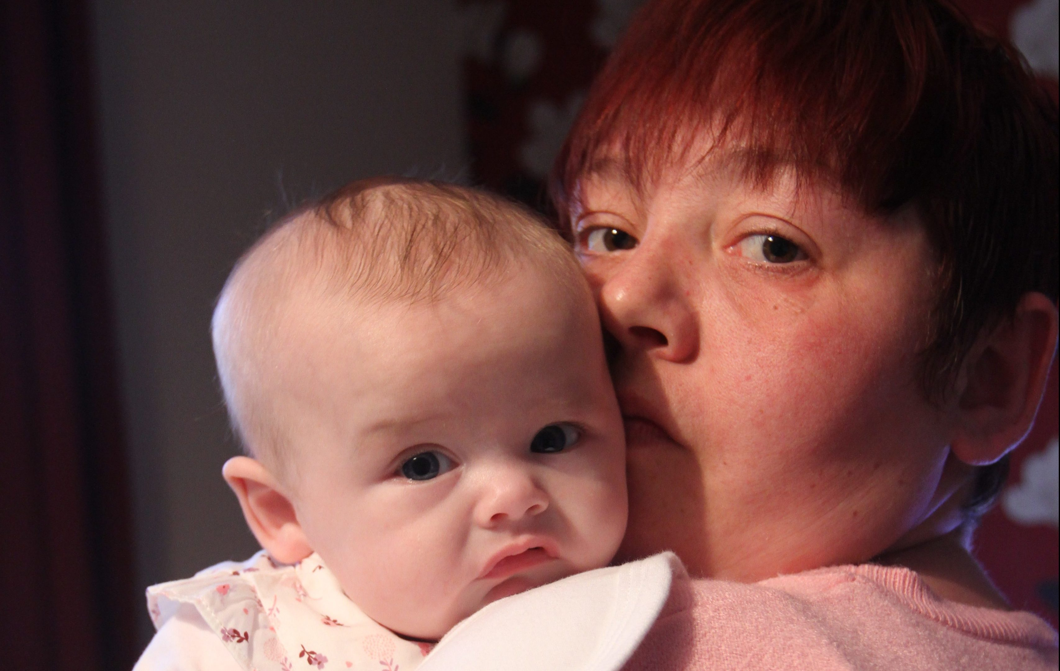 Lorraine with baby Amy.