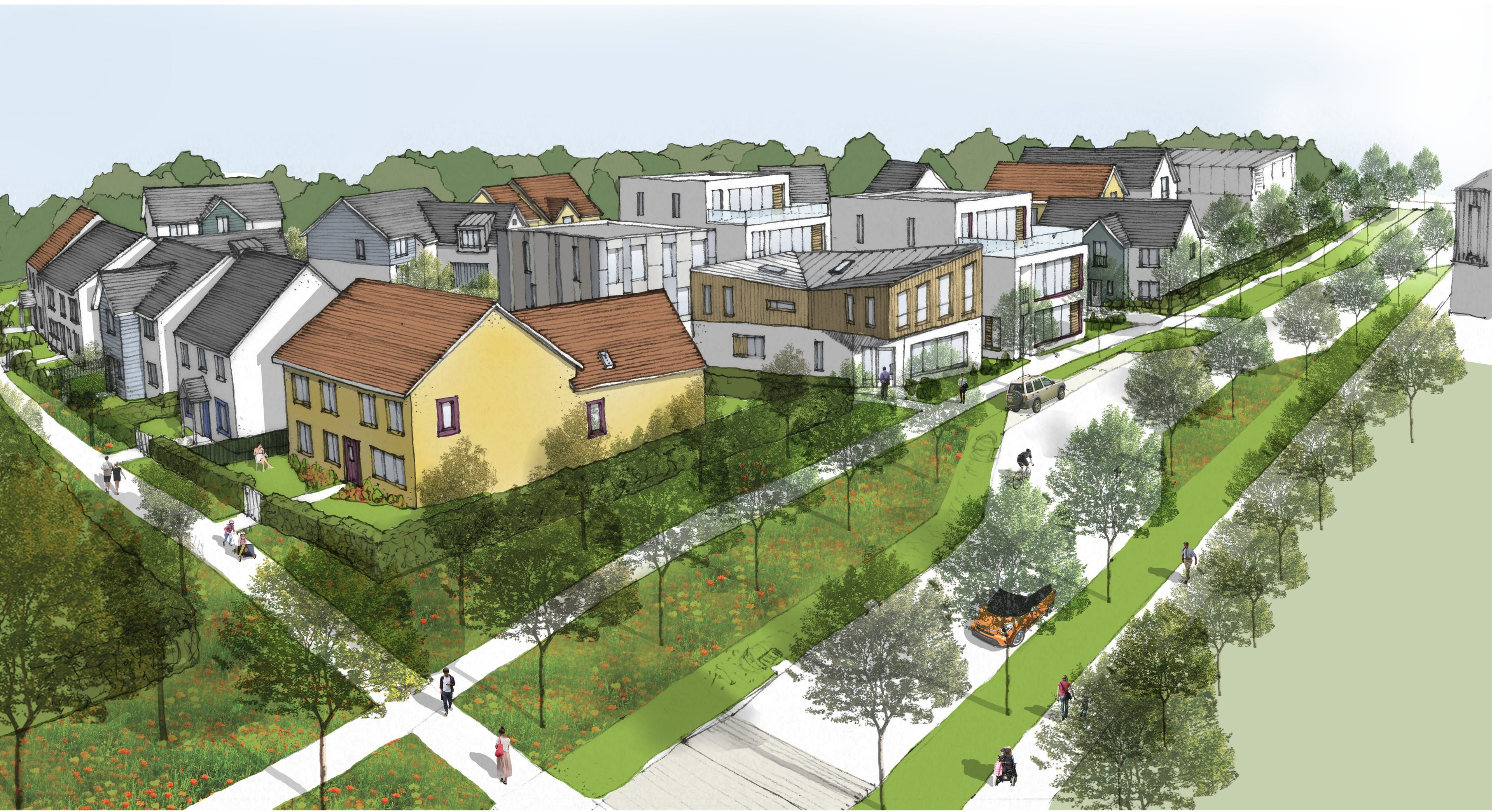 An impression of how the proposed development at Broomhall might look.