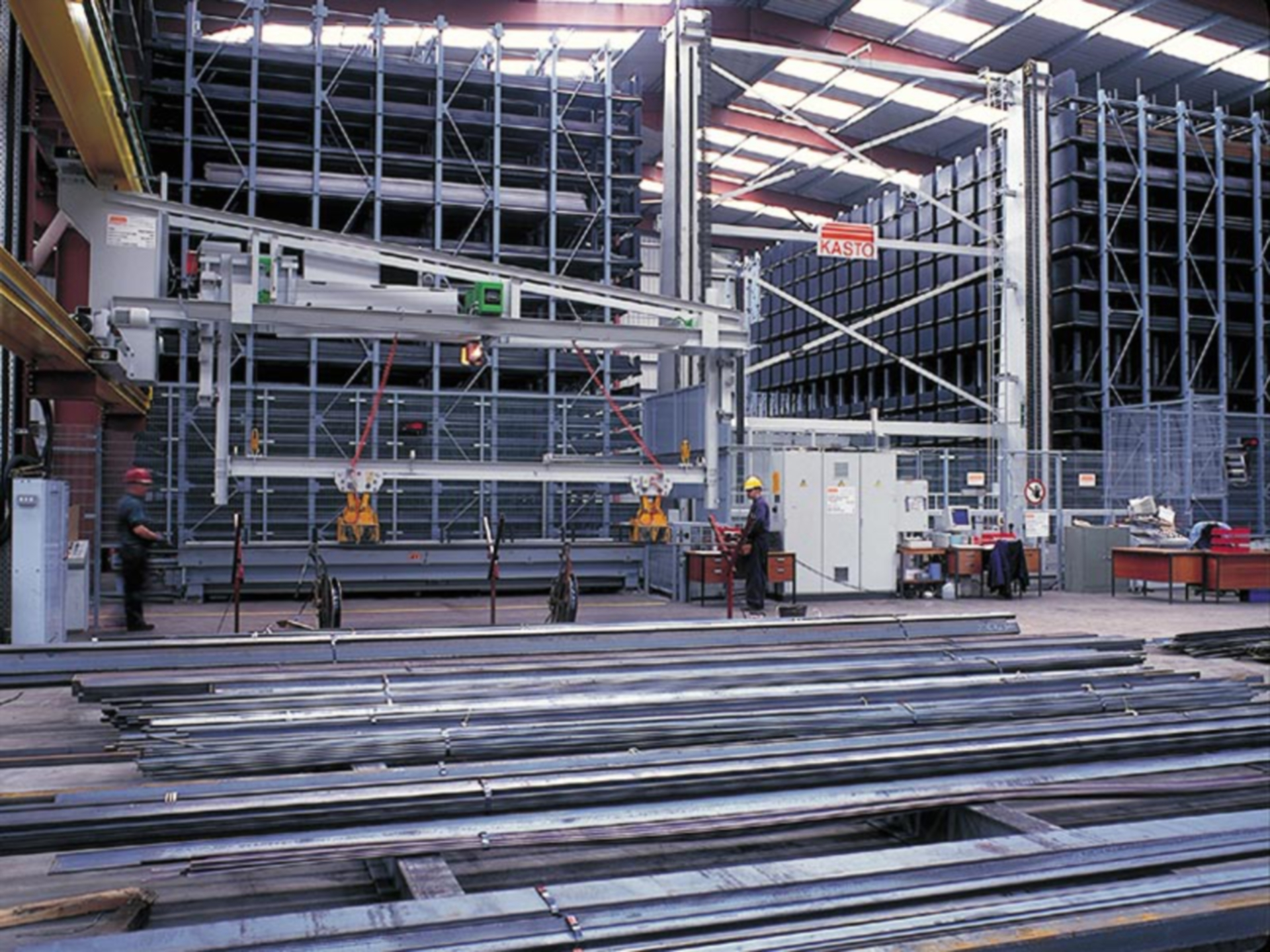 The automated racking and retrieval system at Brown & Tawse in Dundee .
