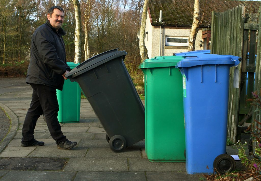 Mr Scobie is encouraging people to secure their bins to prevent vandals setting fire to them.