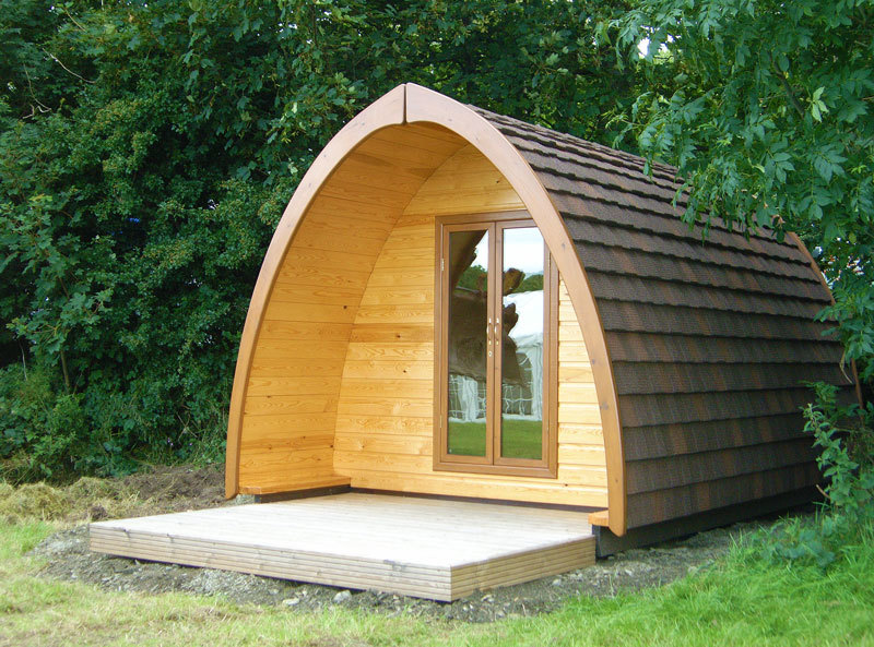 Camping pod at Blair Atholl.
