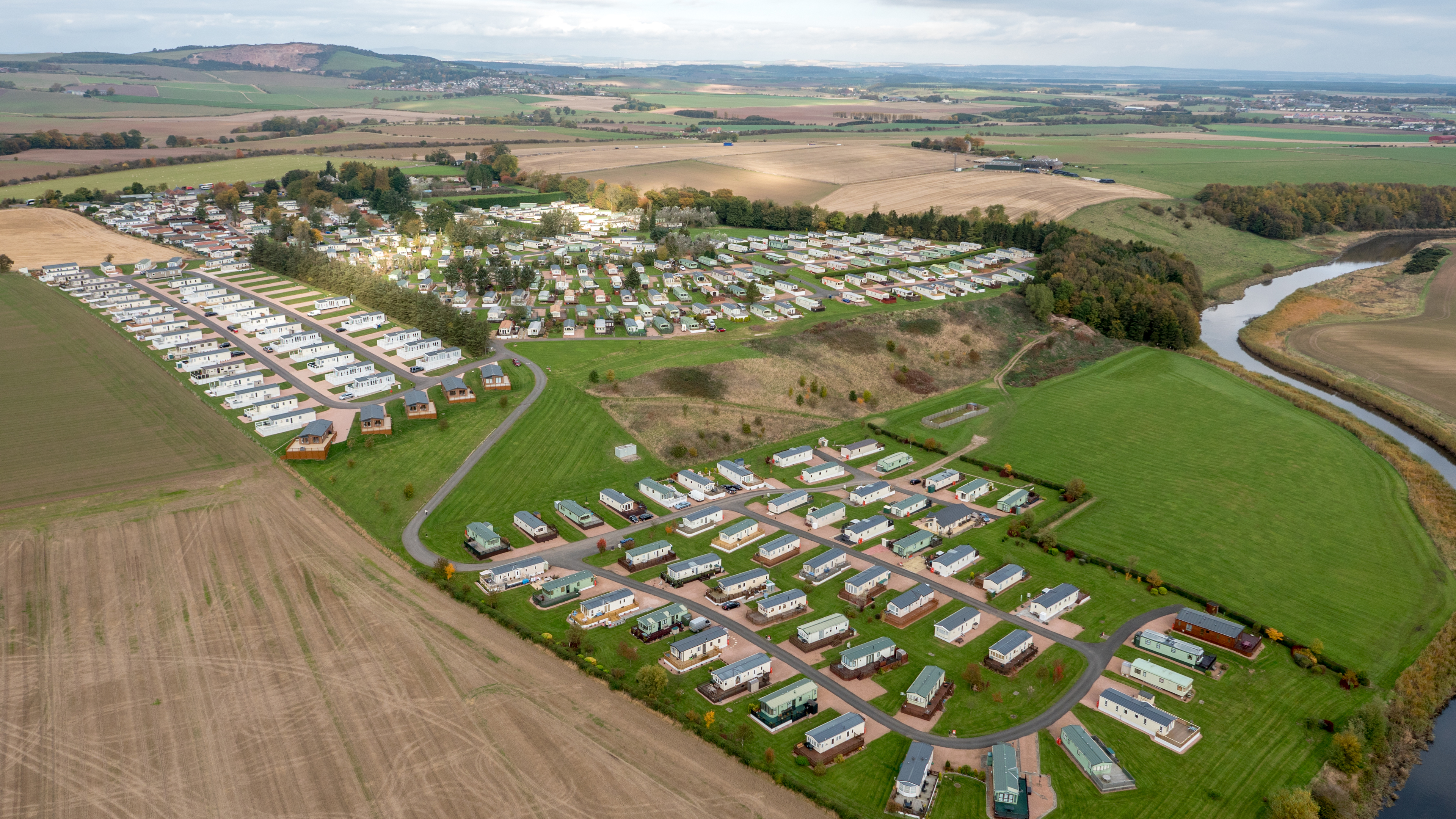 Clayton Caravan Park, situated between Cupar and St Andrews.