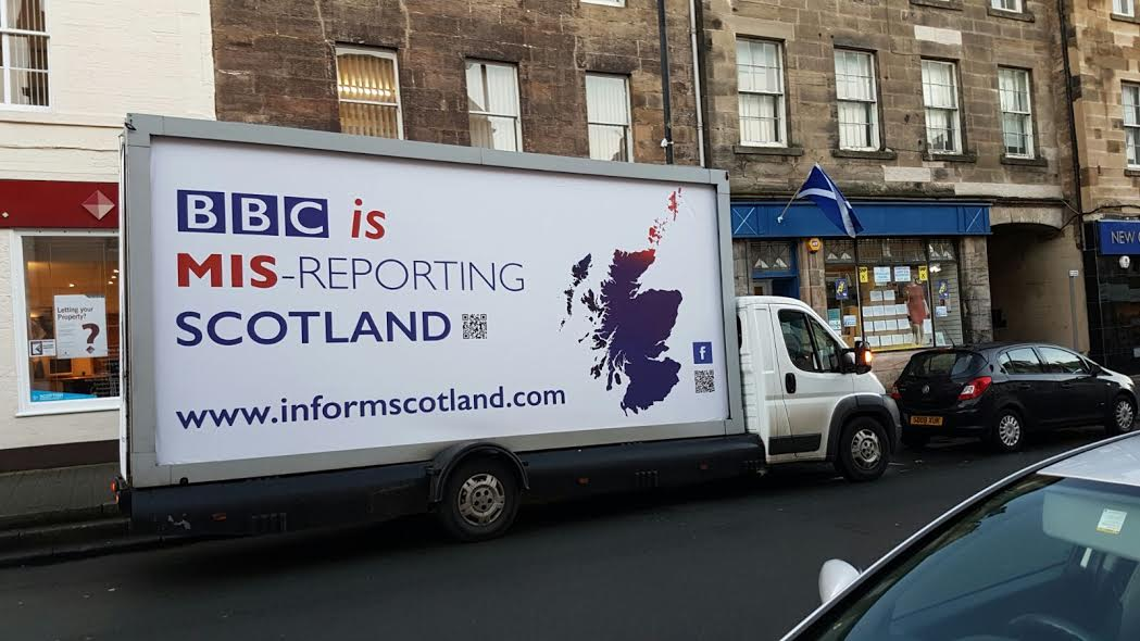 An image of the billboards in Cupar, posted on the Inform Scotland Facebook page.
