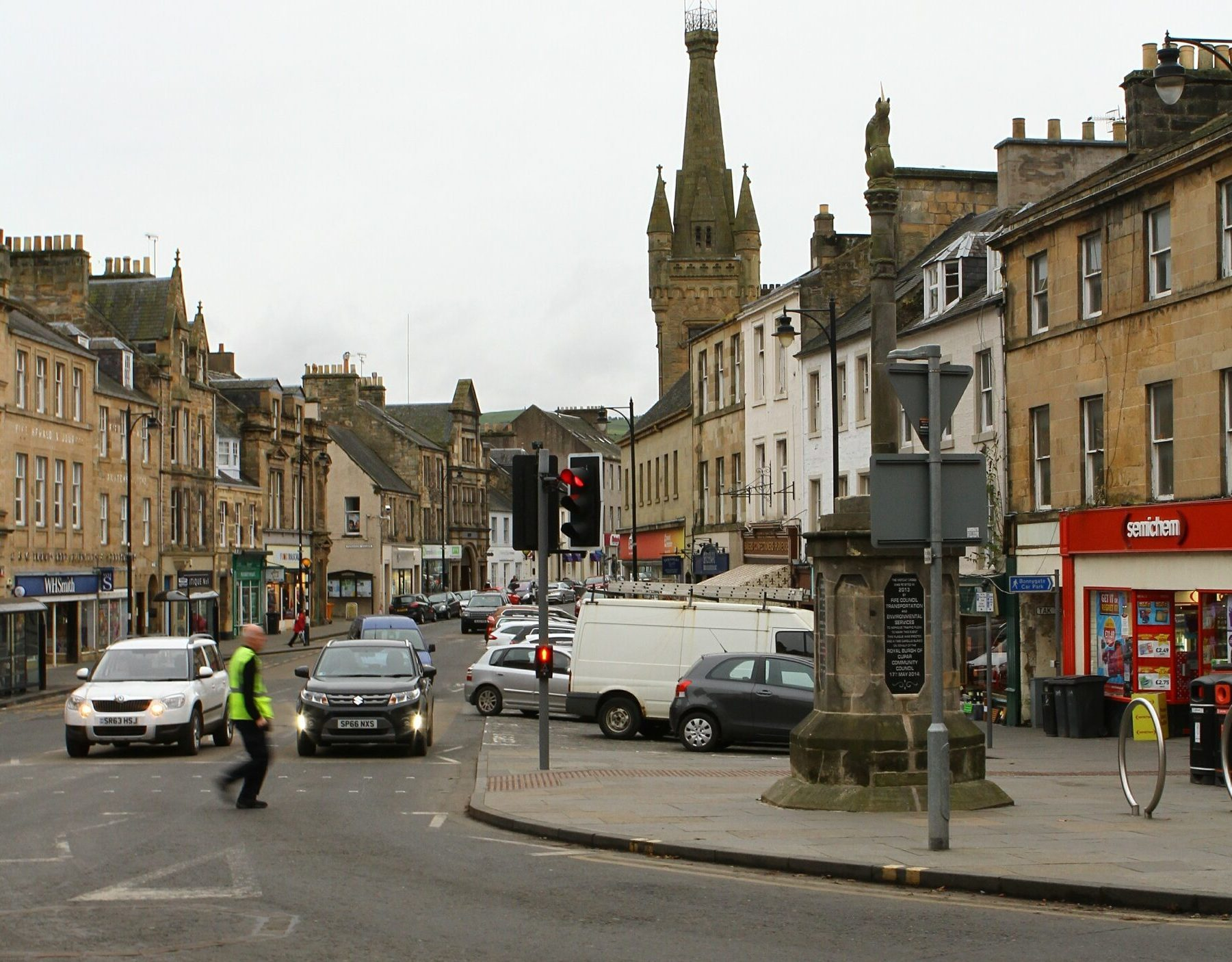 Cupar Crossgate from its junction with Bonnygate