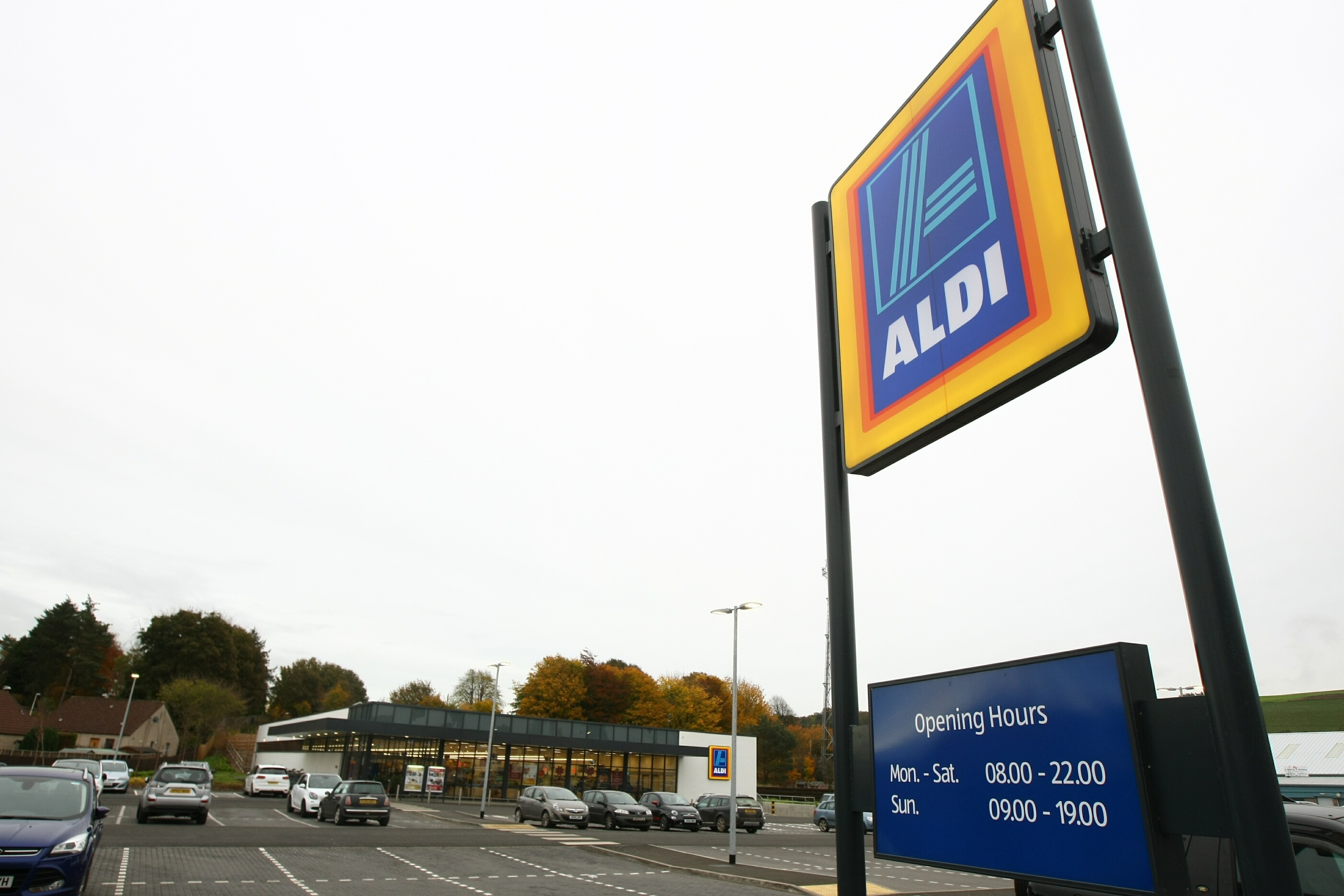 Aldi in Cupar, The German-owned supermarket chain has replaced the Co-op as the fifth biggest in the UK by market share.