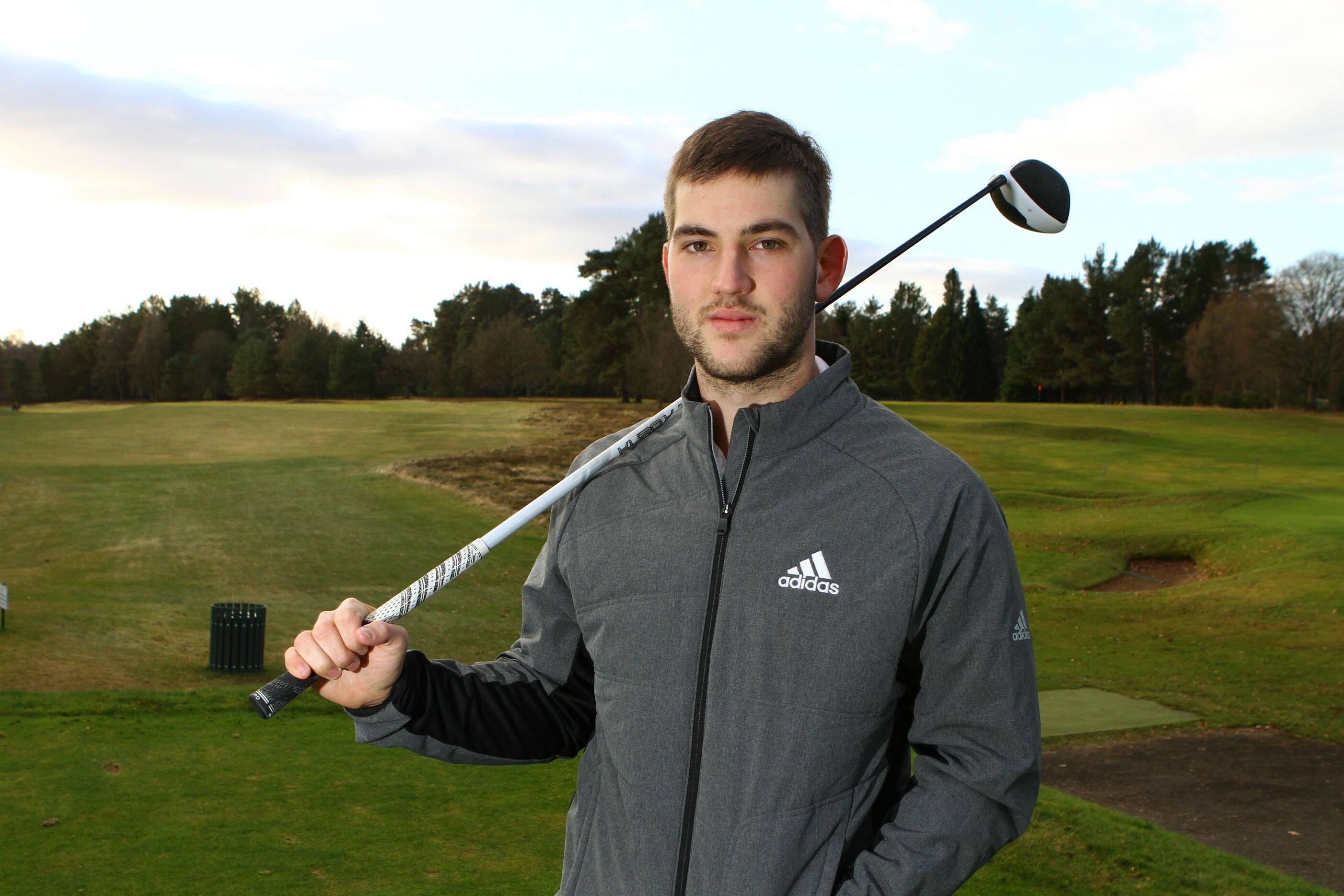 Bradley Neil at Blairgowrie Golf Club.