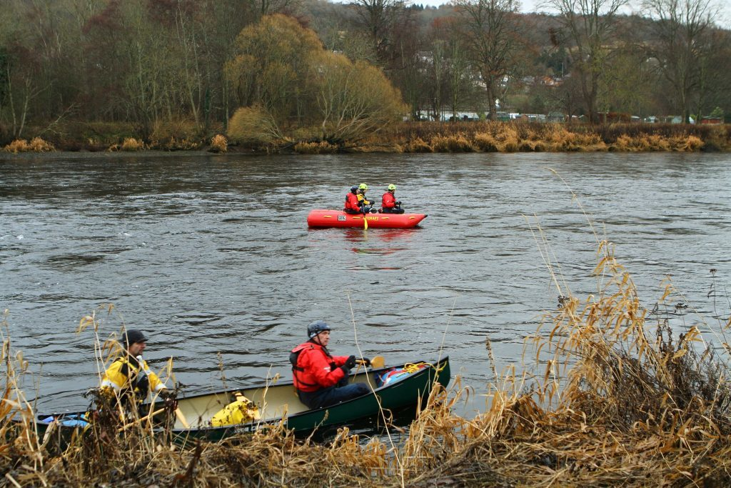 Search crews on the River Tay at Perth.