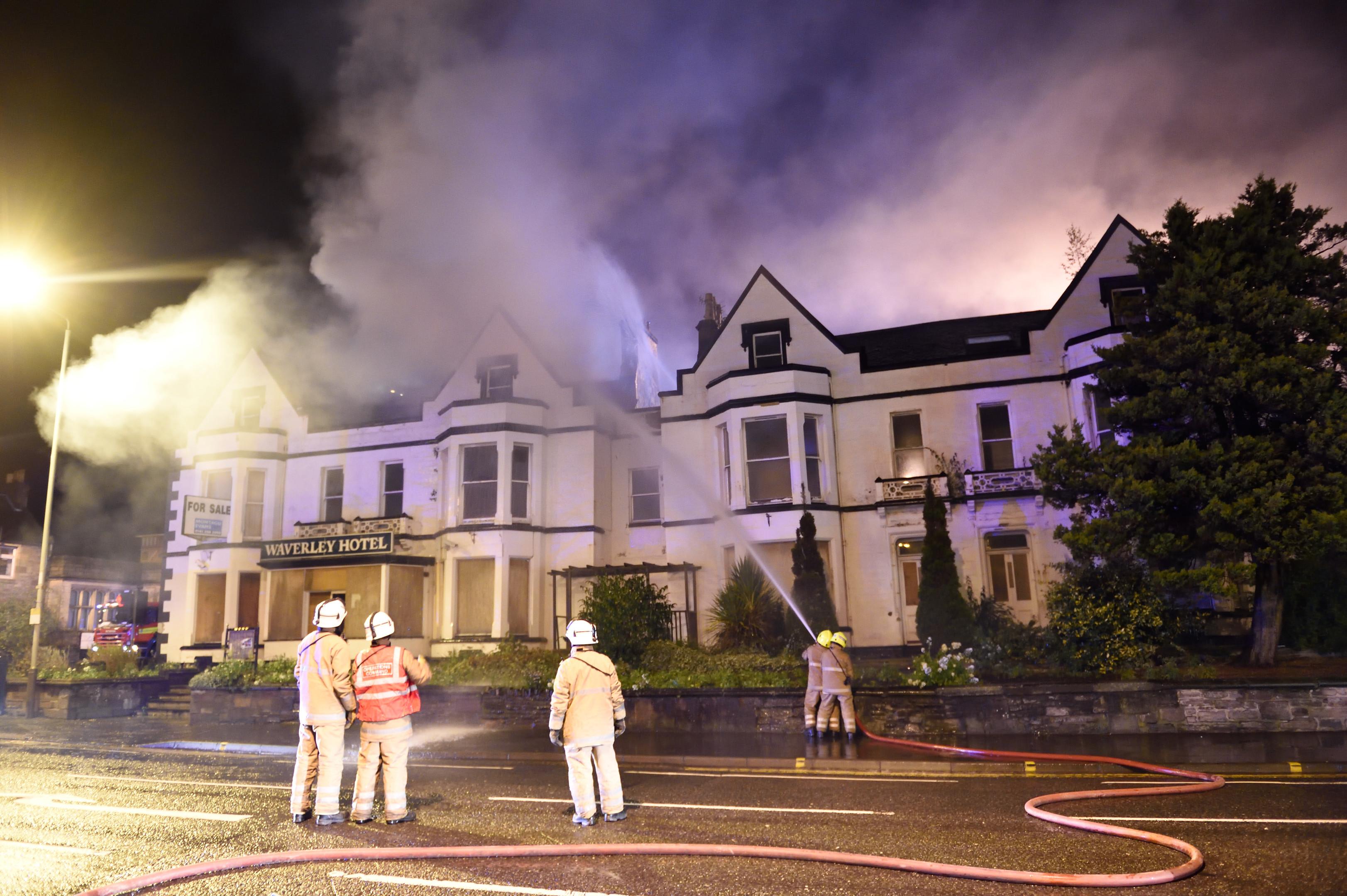 The hotel blaze in November 2015.