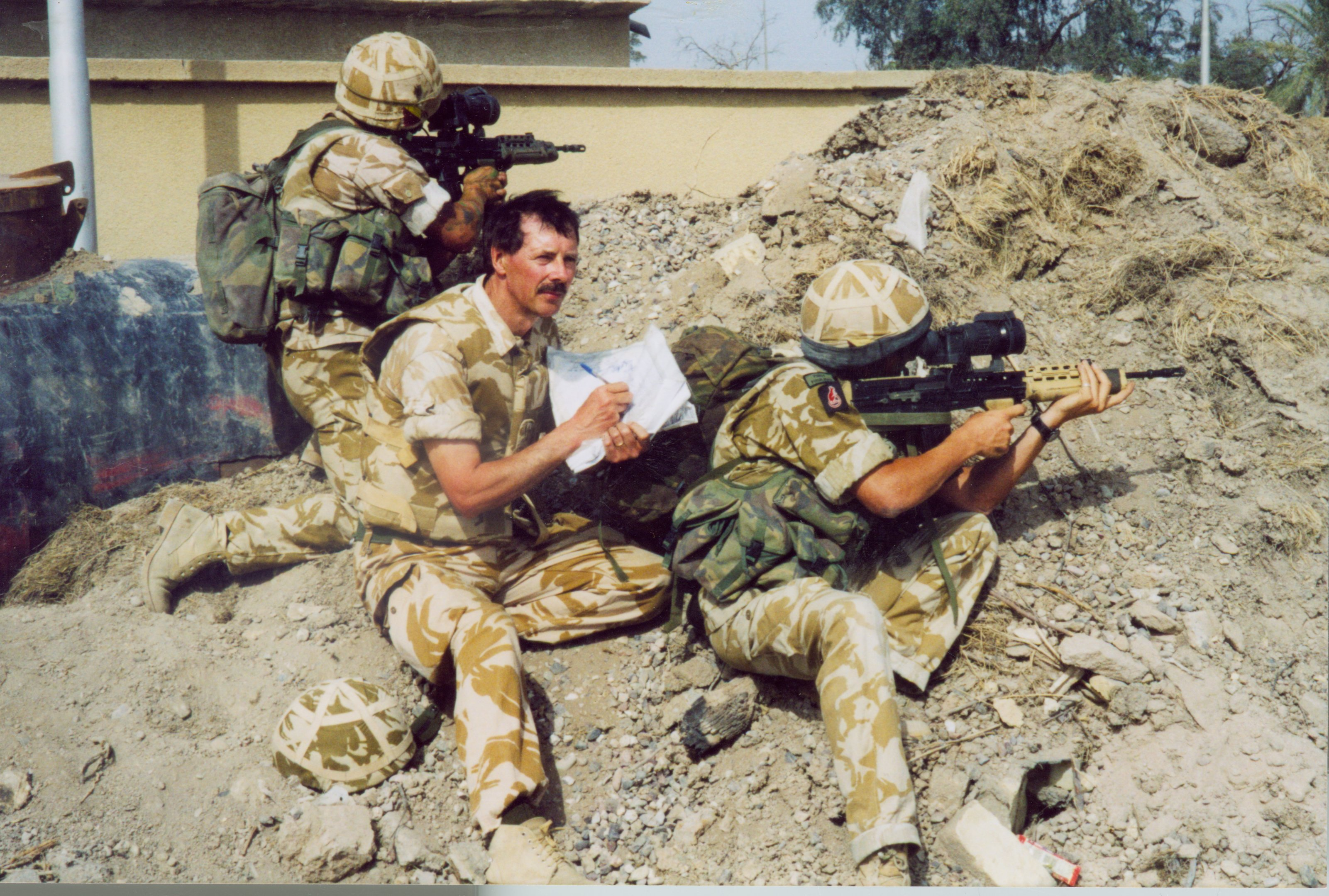 David Rowlands sketches while on patrol in Basra.