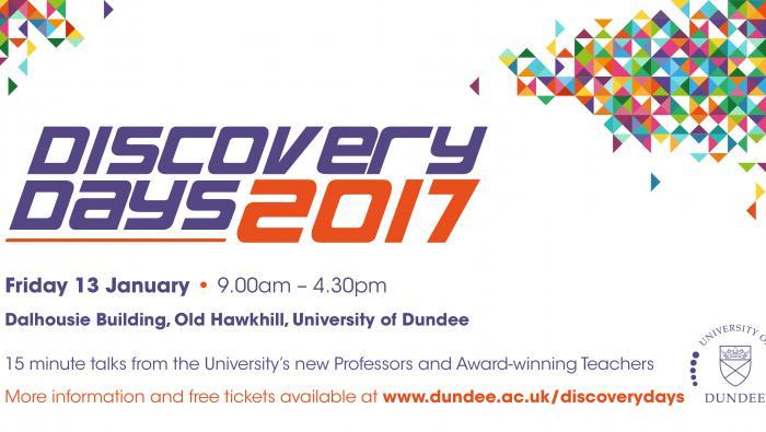 Dundee University Discovery Days event takes place on Friday January 13, 2017