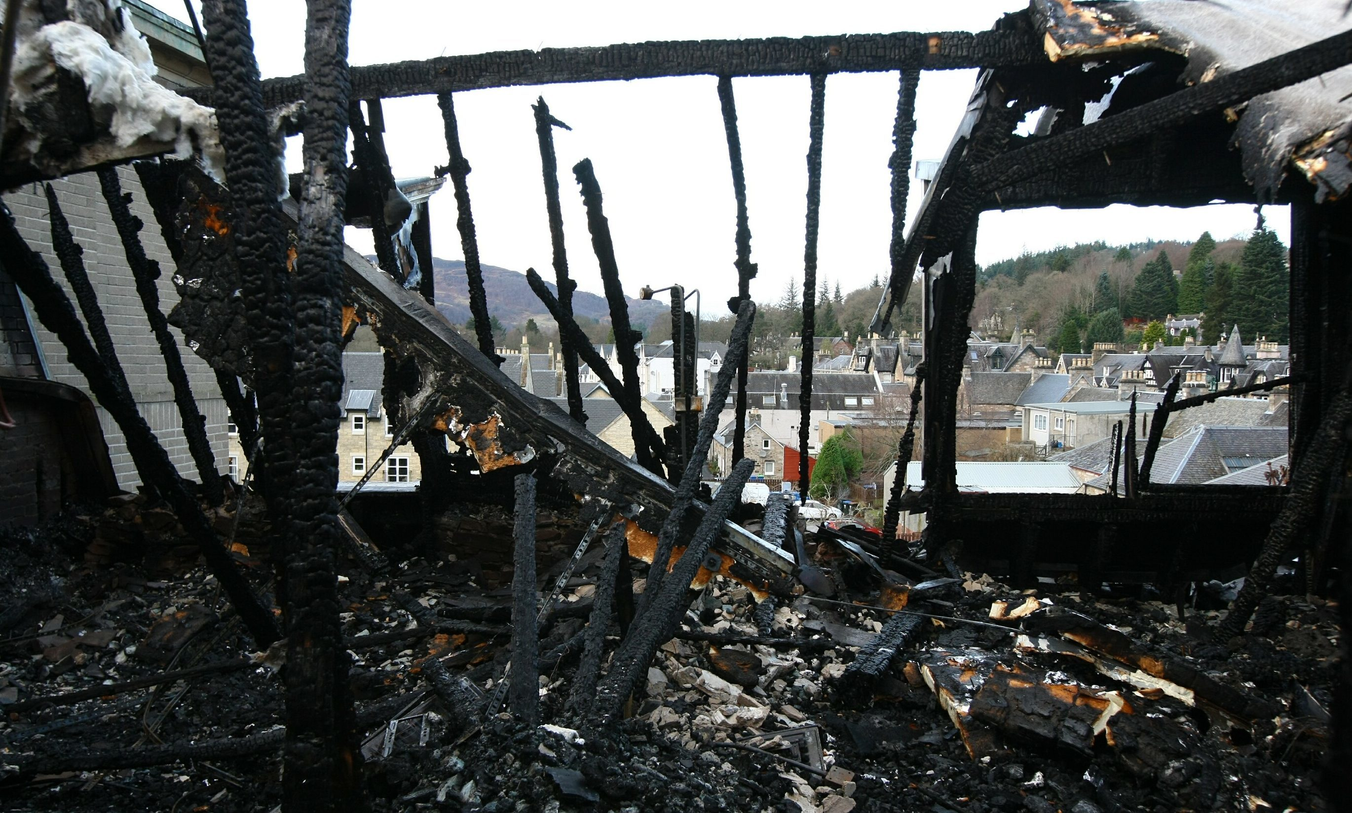 The aftermath of Fisher's New Year's Day fire
