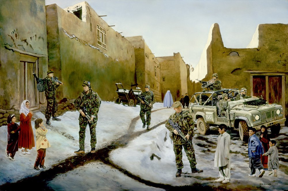 Infantry Territorials on patrol in Afghanistan during Operation Fingal.