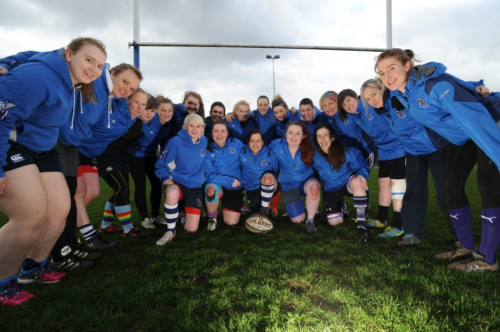 Howe Harlequins Ladies Rugby Team pictured at training in Cupar