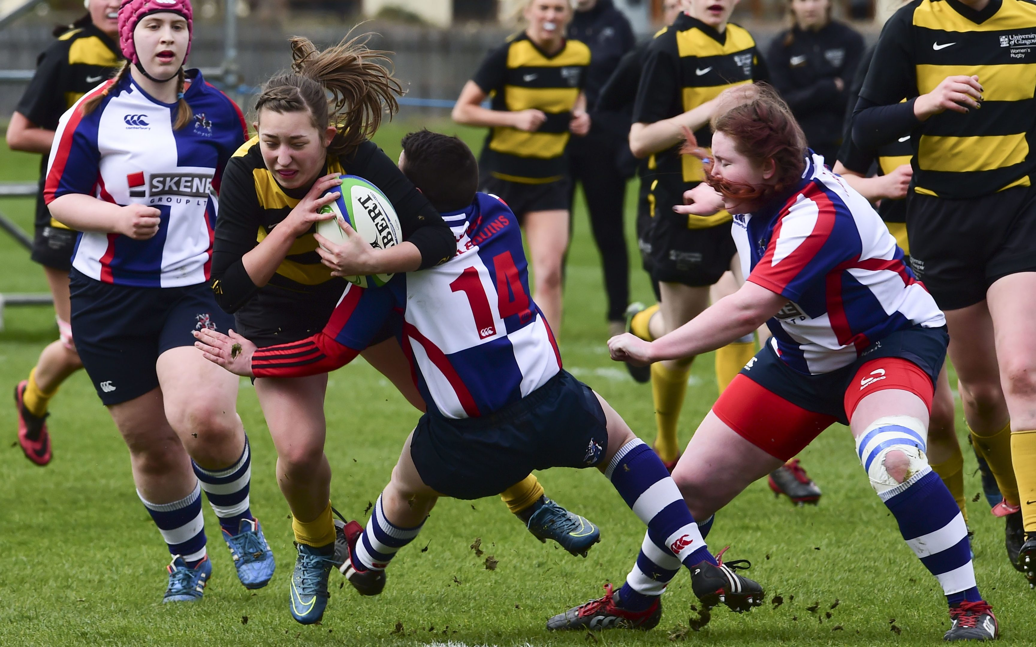 Cupar-based Howe Harlequins took on Glasgow University in the BT Women's Bowl Final at Murrayfield in April 2016